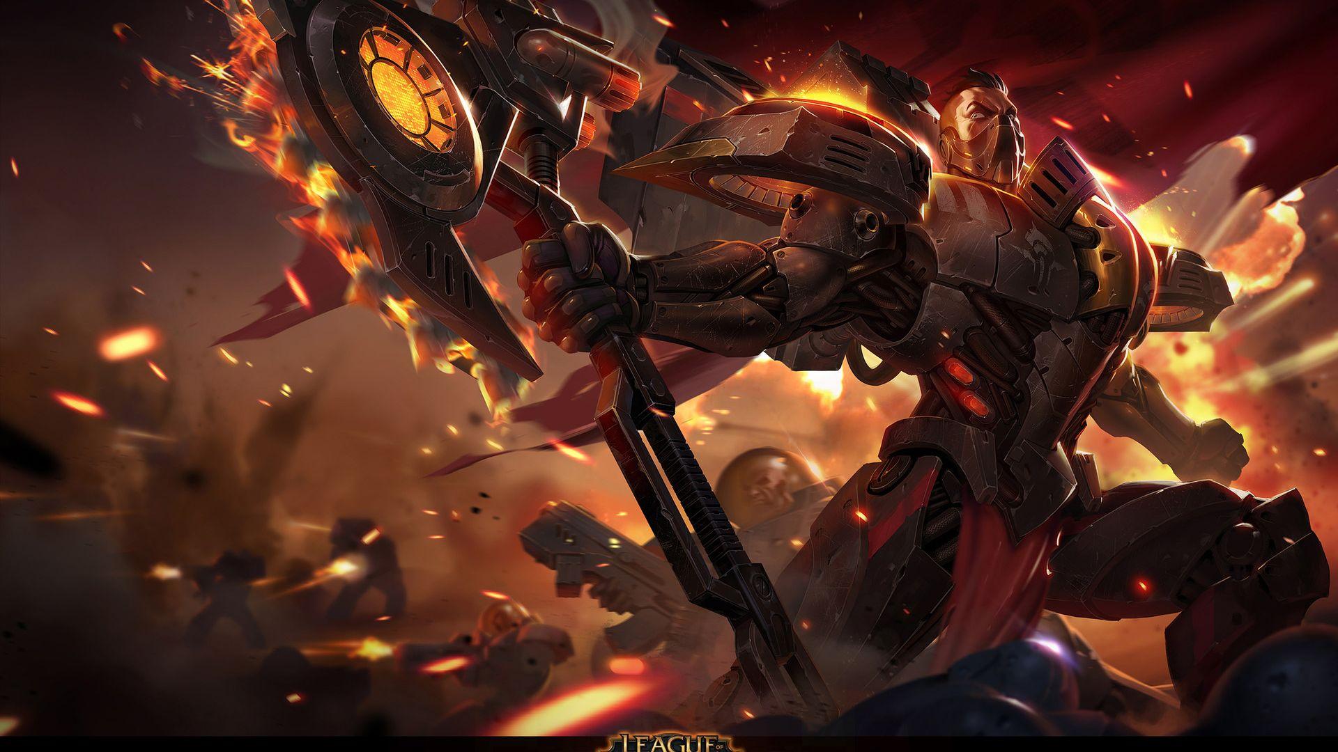 Desktop Wallpaper Darius League Of Legends Online Game Hd Image