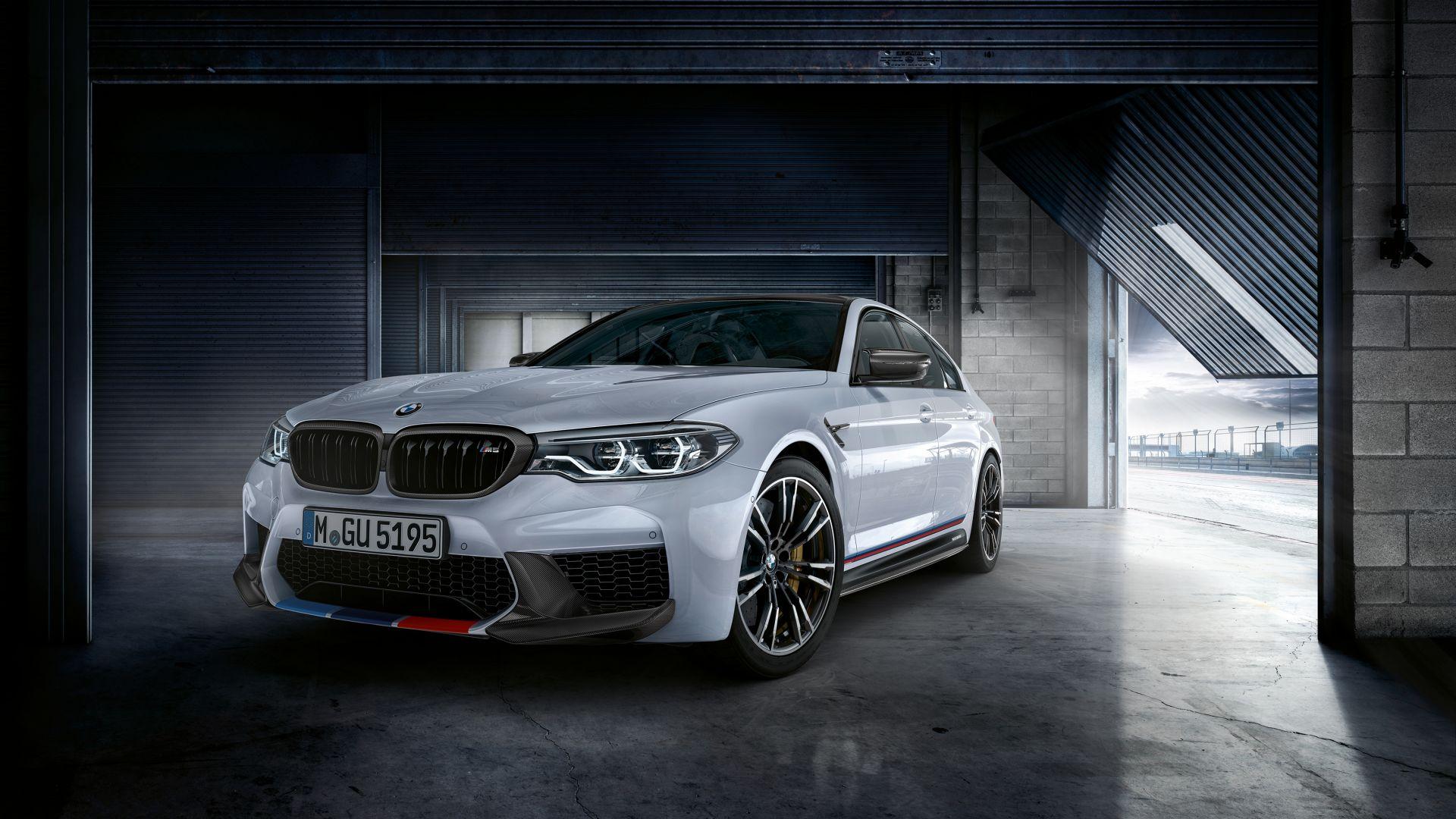 Wallpaper 2018 New BMW M5, M performance parts, 4k