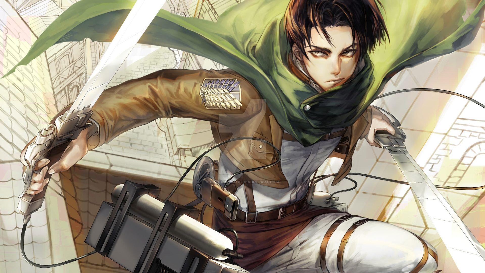 Levi Ackerman, Attack On Titan, Fight, Anime Wallpaper ...