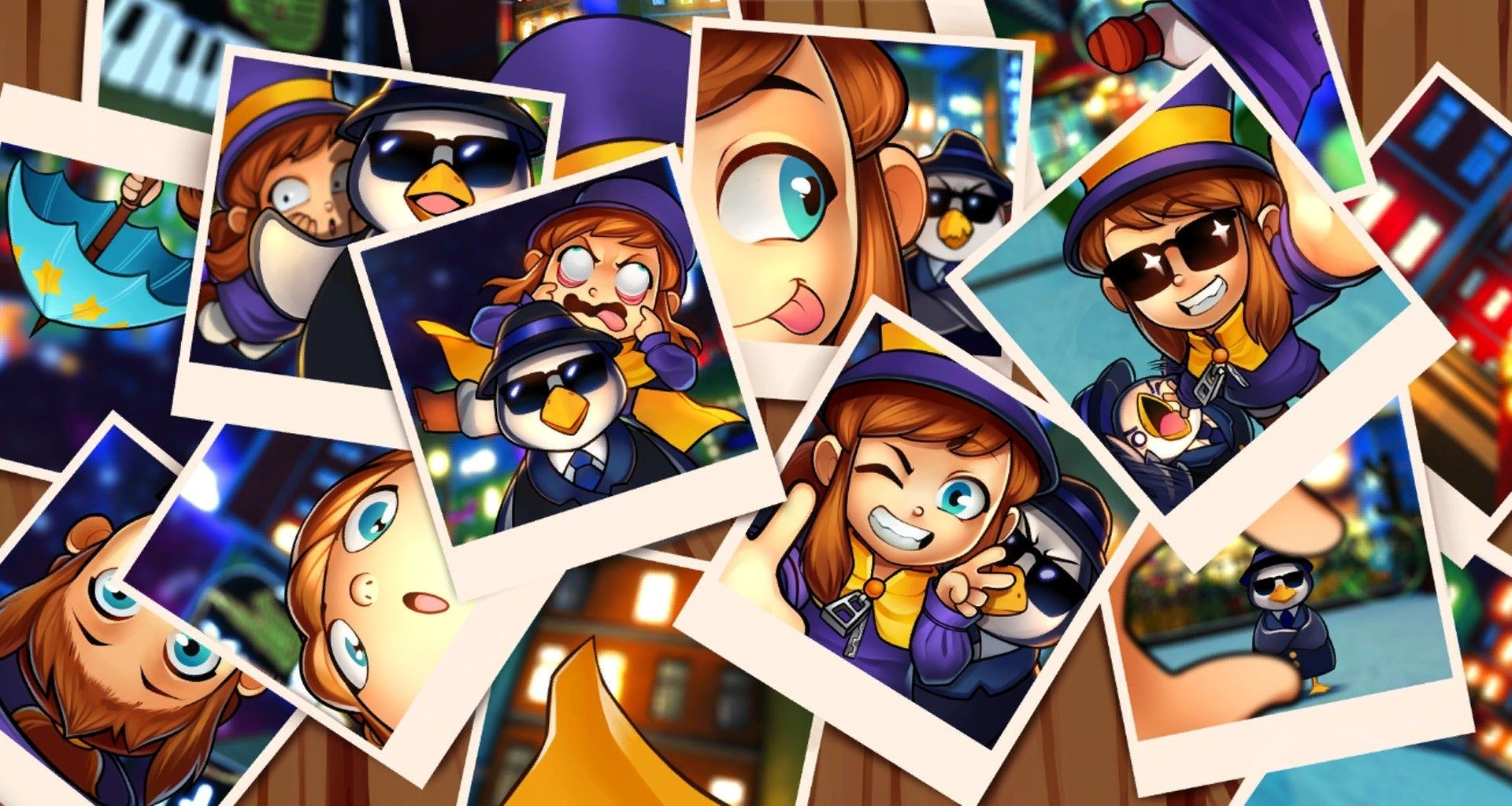 A hat in time, photographs, collage