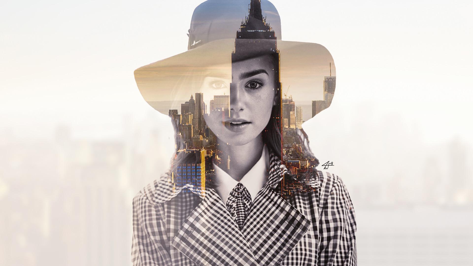 Wallpaper Lily Collins, fan art, celebrity