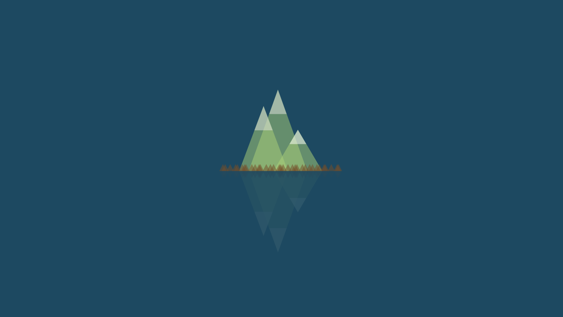 Wallpaper Mountains, reflections, nature, minimalism