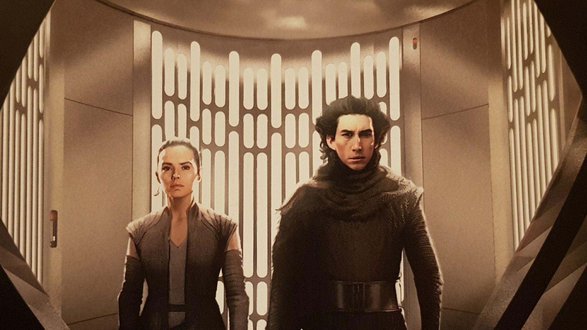 Rey, kylo ren, star wars: the last jedi, fan artwork Wallpaper