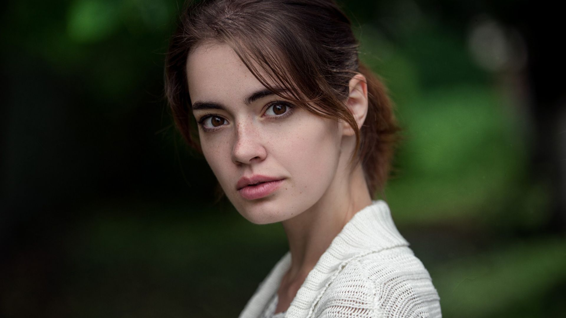 Wallpaper Lidia savoderova, face, brunette