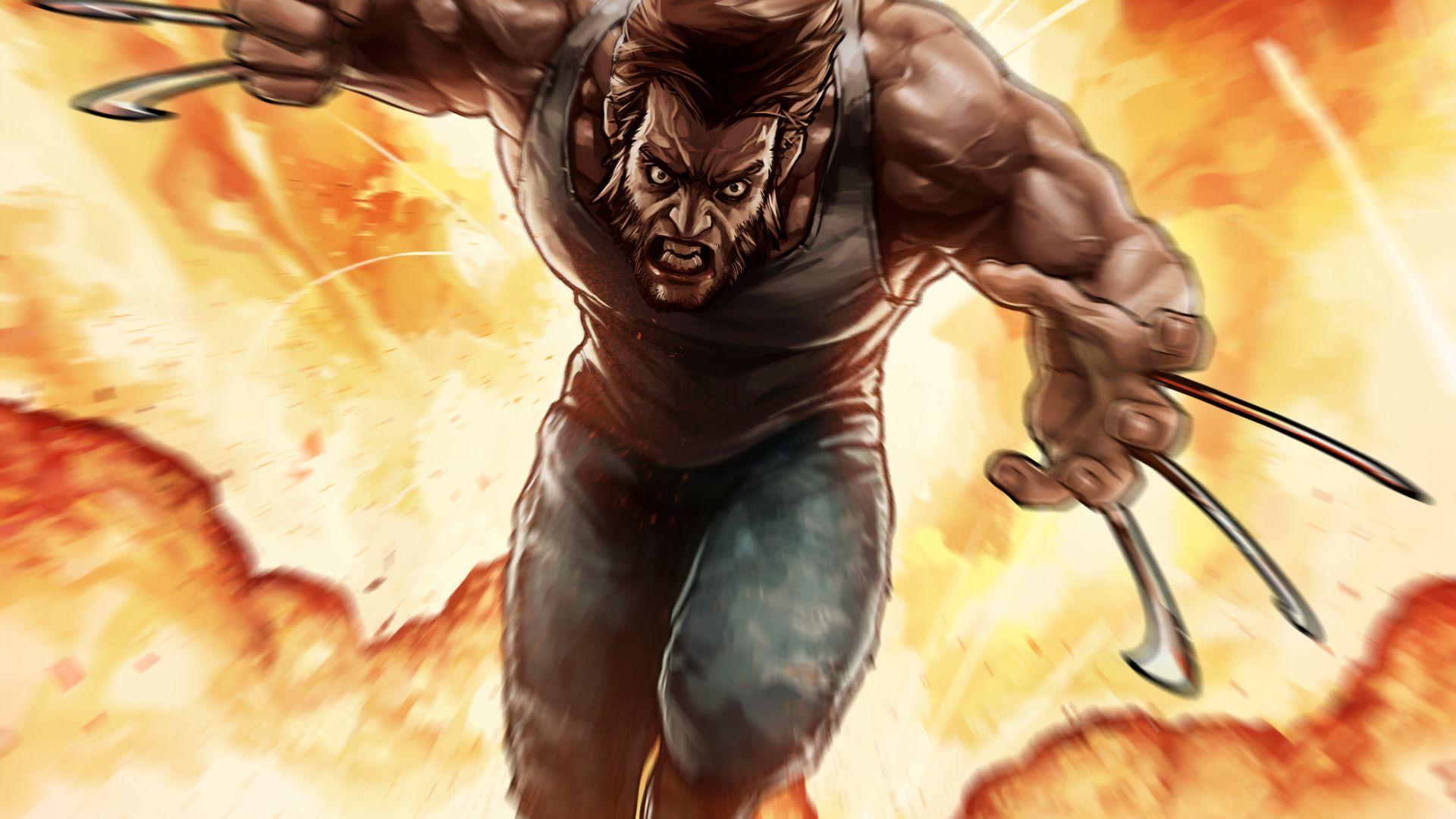 Wallpaper Angry Wolverine, X-men, marvel comics, fan art