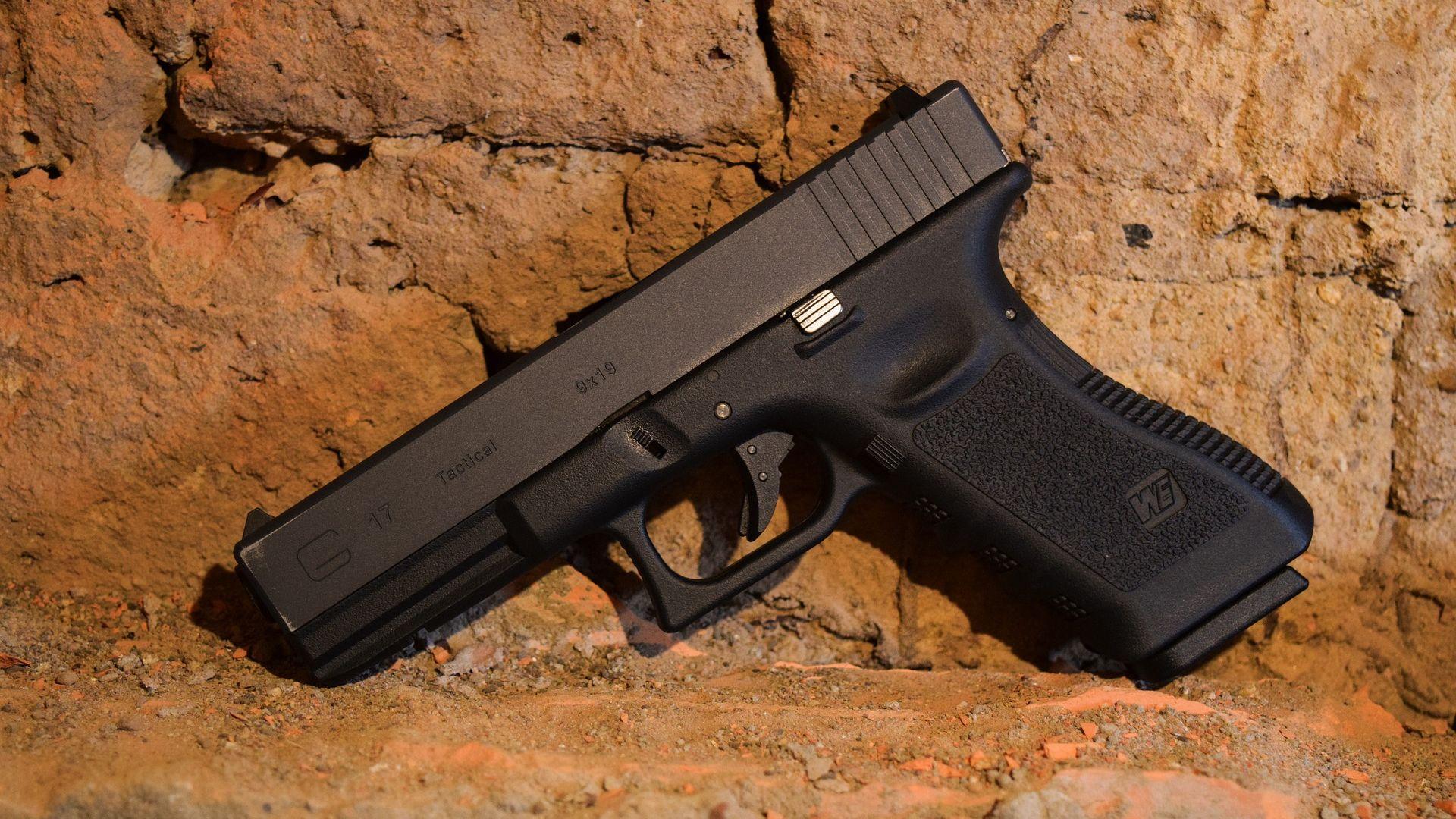 Wallpaper WE Airsoft Glock 19 Gun, weapons, close up