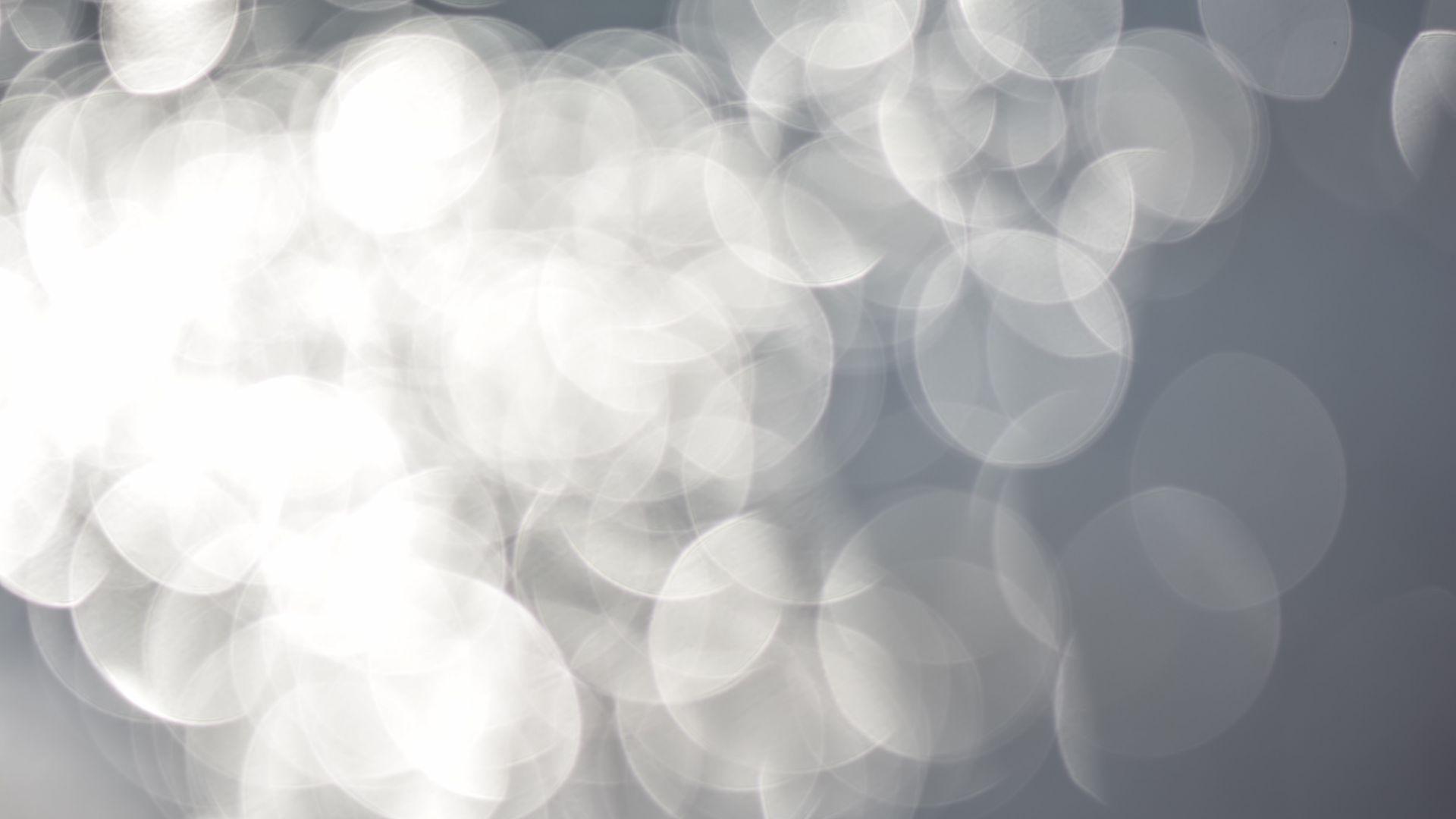 Wallpaper Bokeh, white circles, abstract