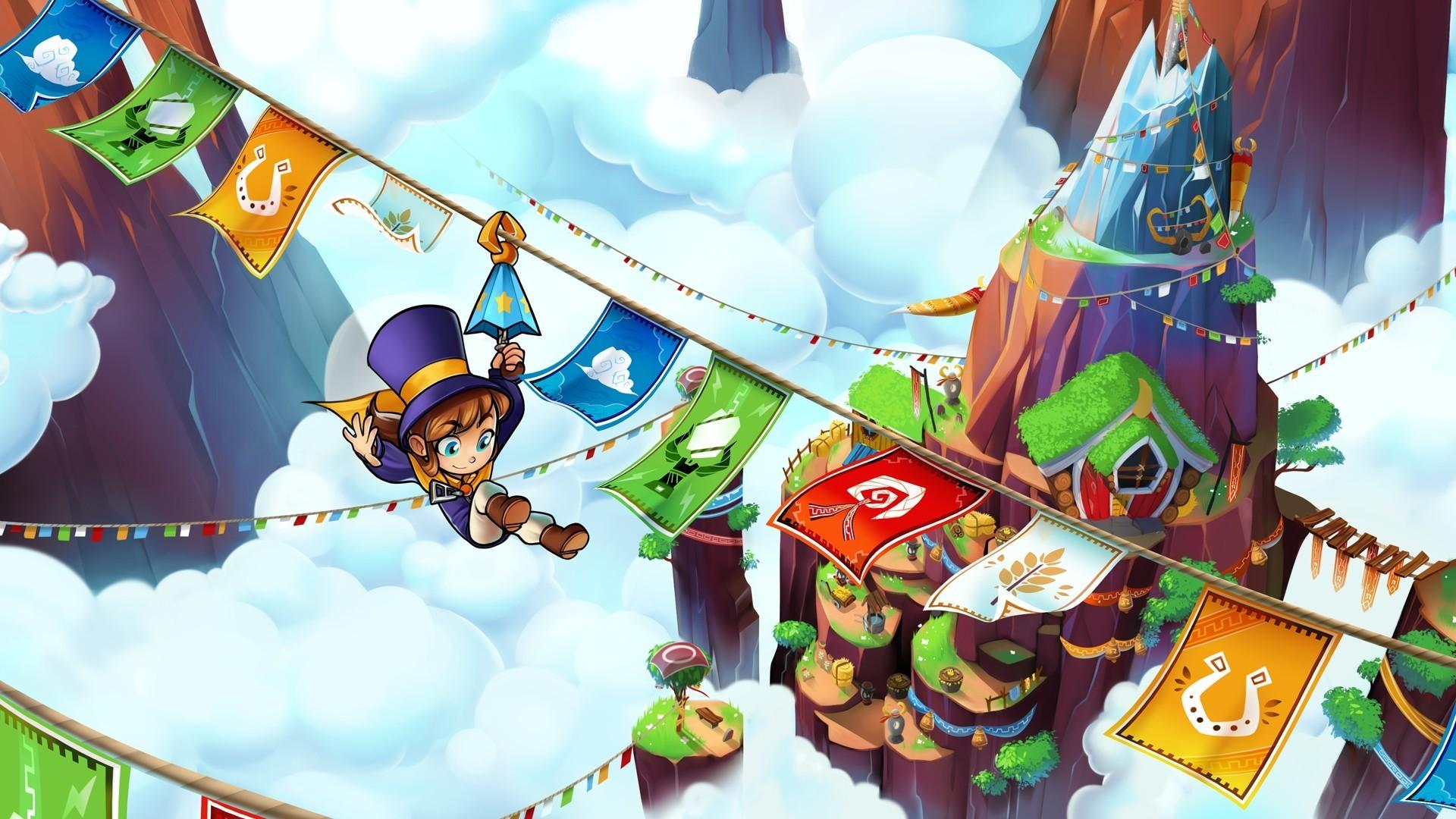 Wallpaper A hat in time, kid, swing