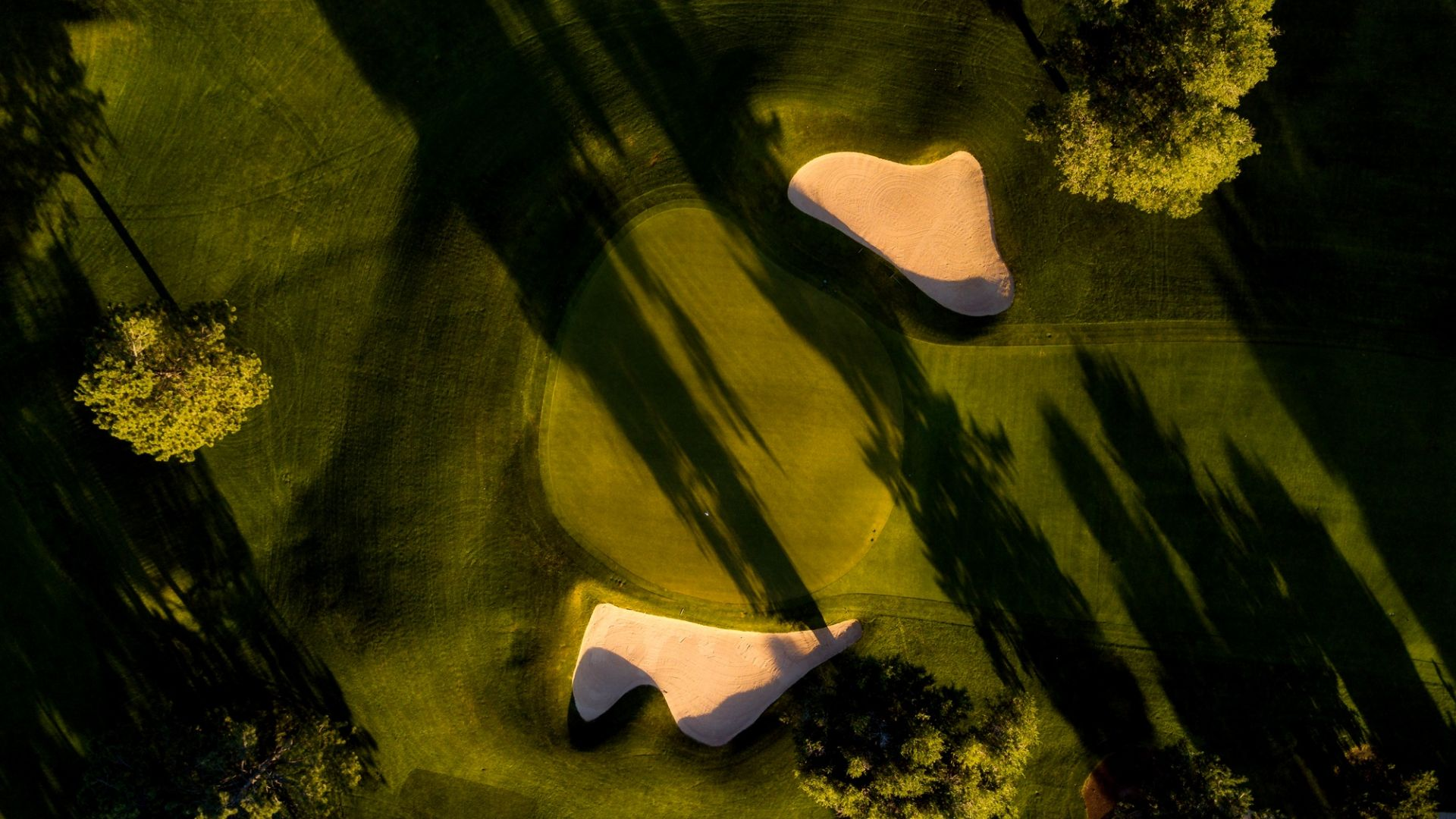 Wallpaper Golf course, sports, landscape, aerial view
