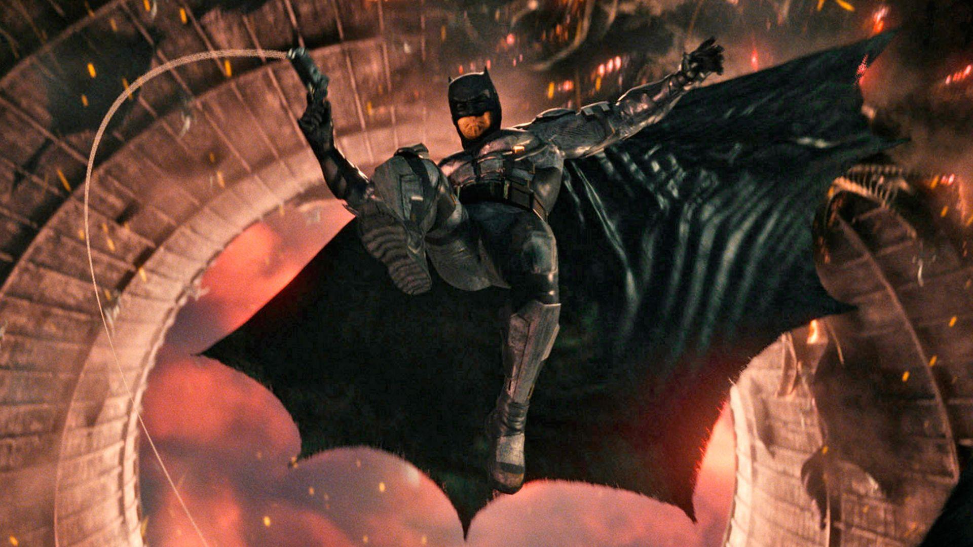 Desktop Wallpaper Batman Justice League Jump 2017 Movie Hd Image