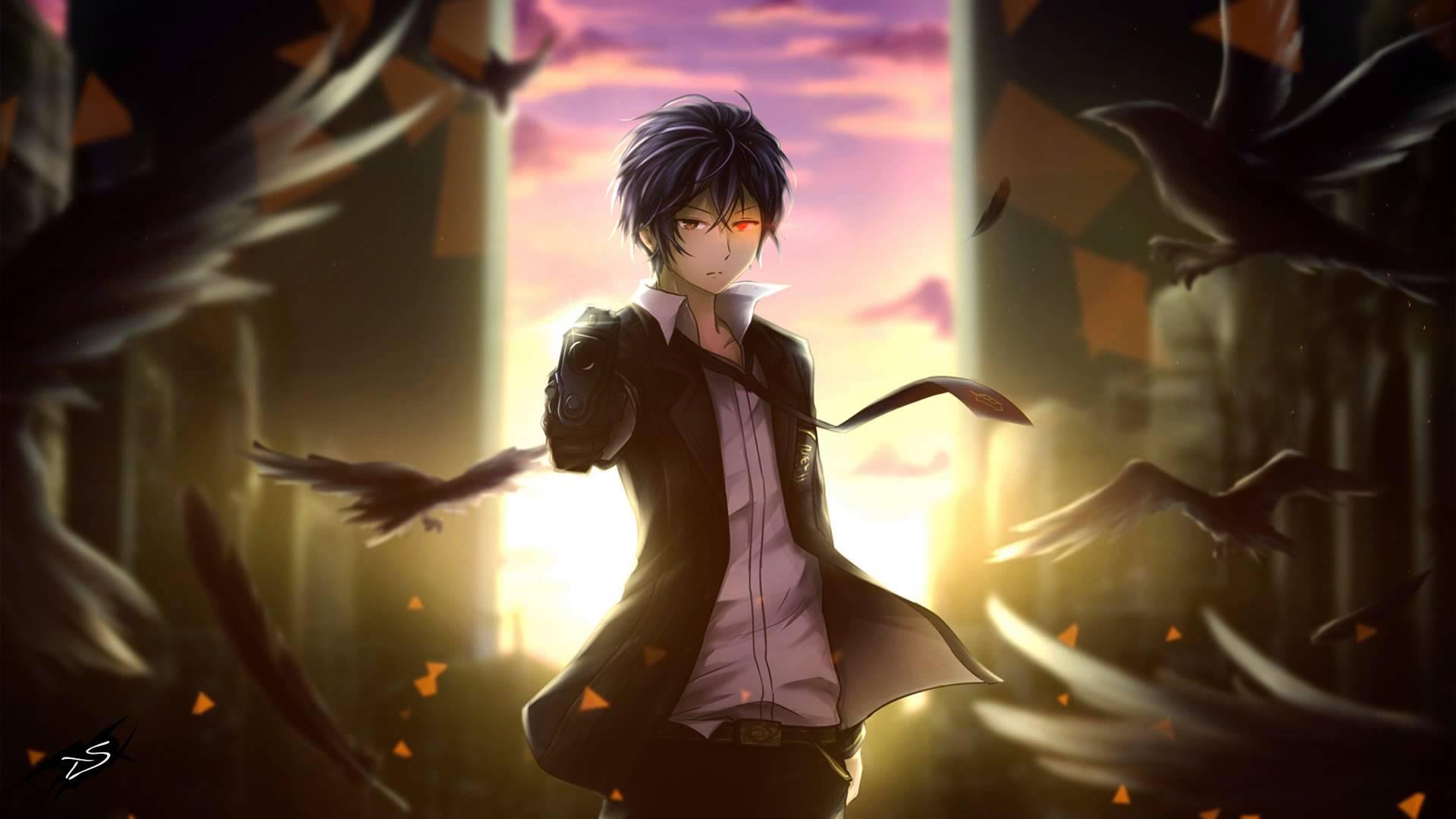 Hei, Darker than Black, anime, ravens, gun fire