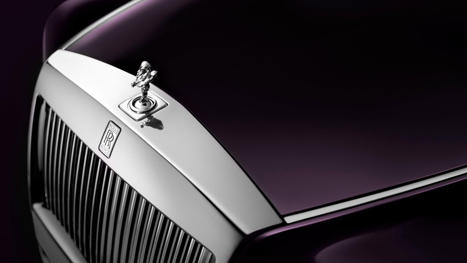 Desktop Wallpaper 2017 Rolls Royce Phantom Front Logo Hd Image Picture Background D96cbb