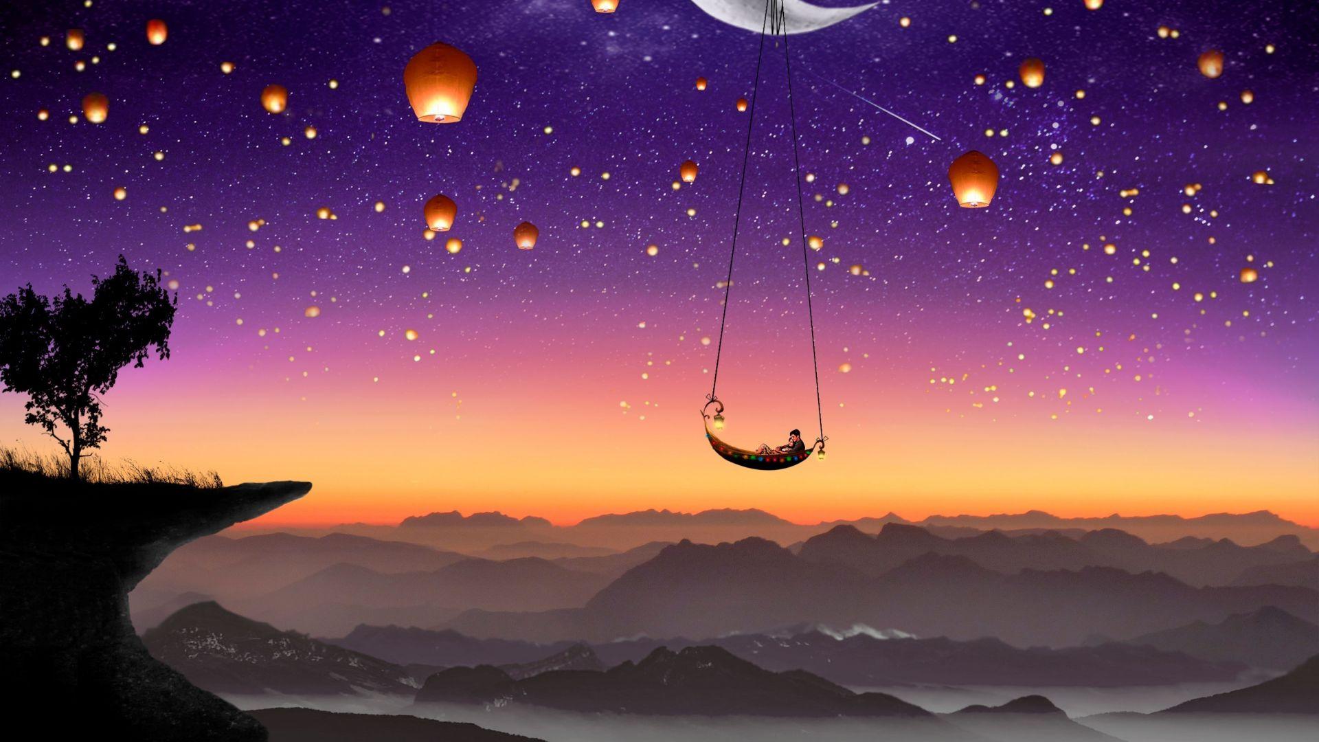 Best Wallpaper Night Lantern - couple-moon-lanterns  Best Photo Reference-737740.jpg