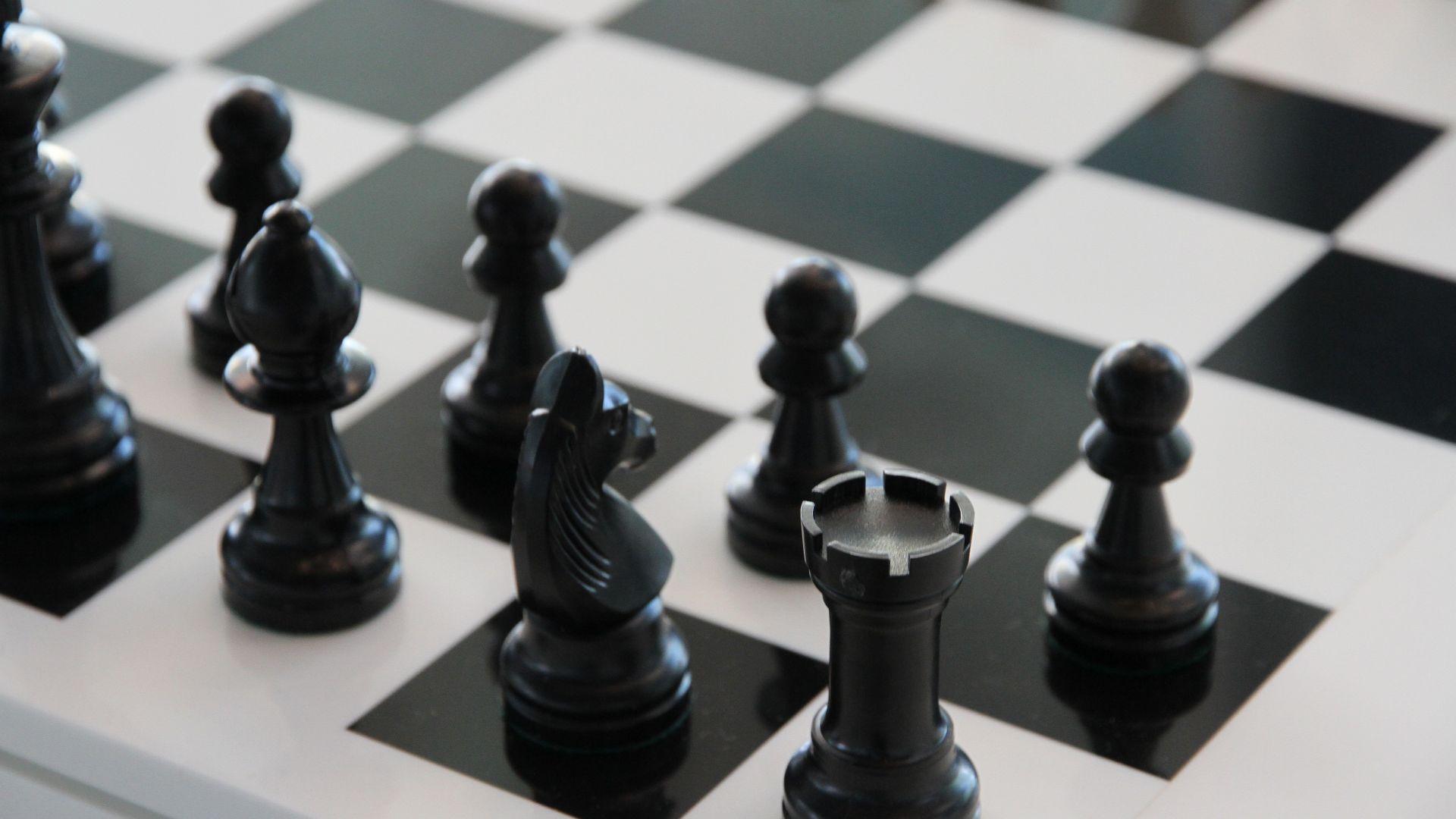 Wallpaper Chess, chess board, figures