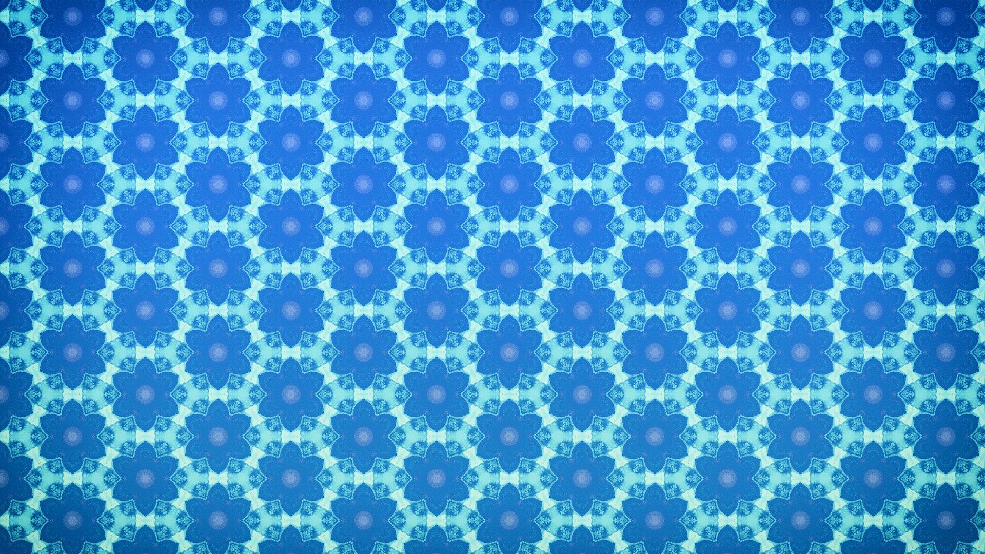 Wallpaper Floral pattern, blue, abstract