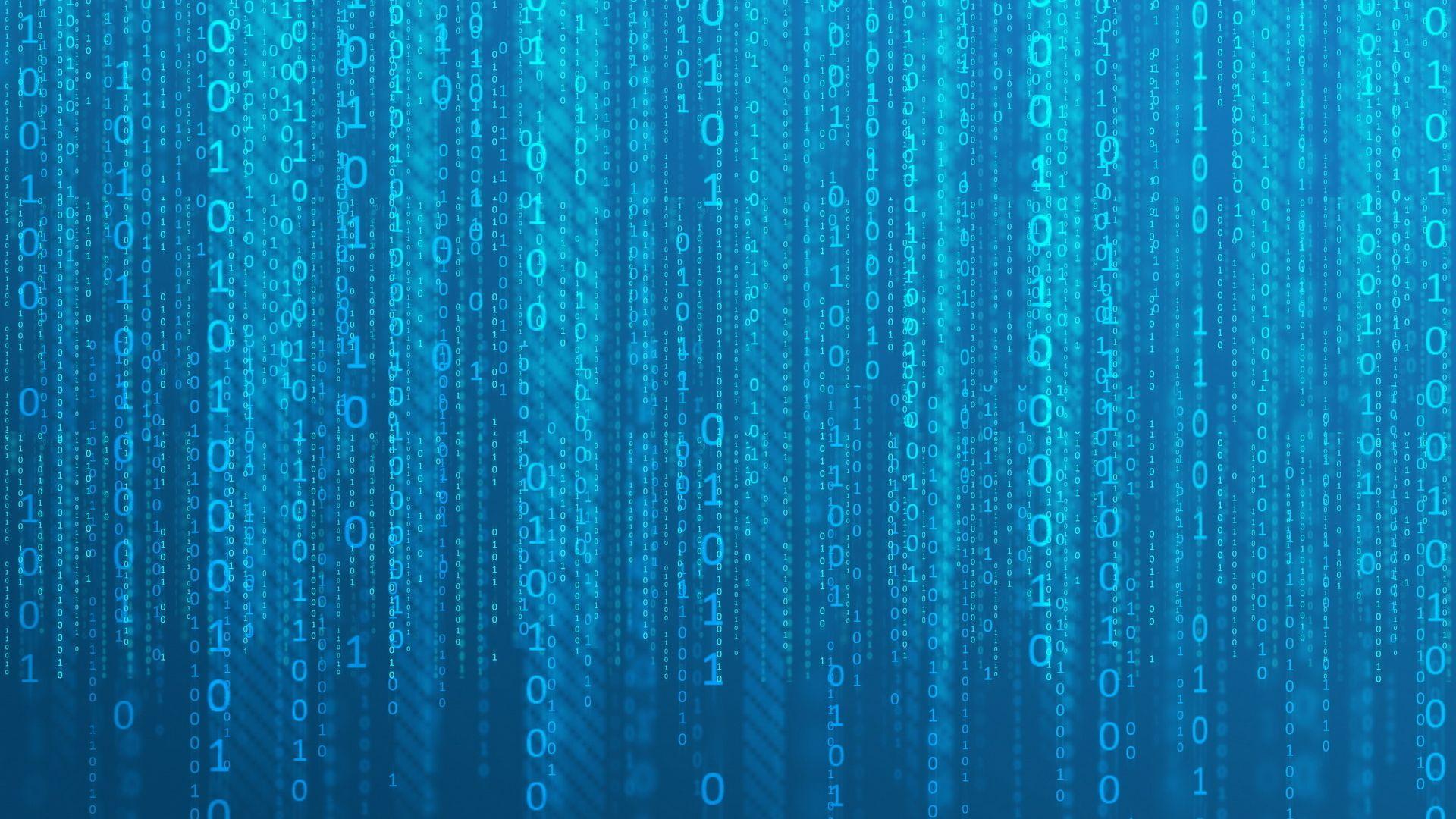 Wallpaper Matrix binary