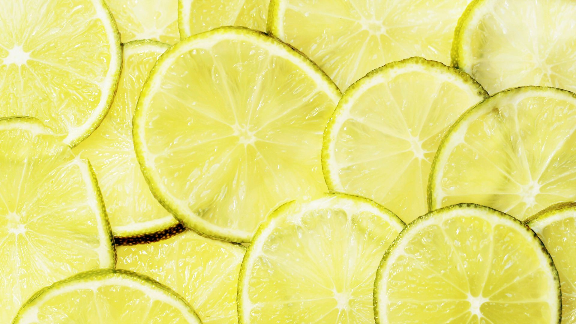 Lemon slices, yellow fruits, lemon