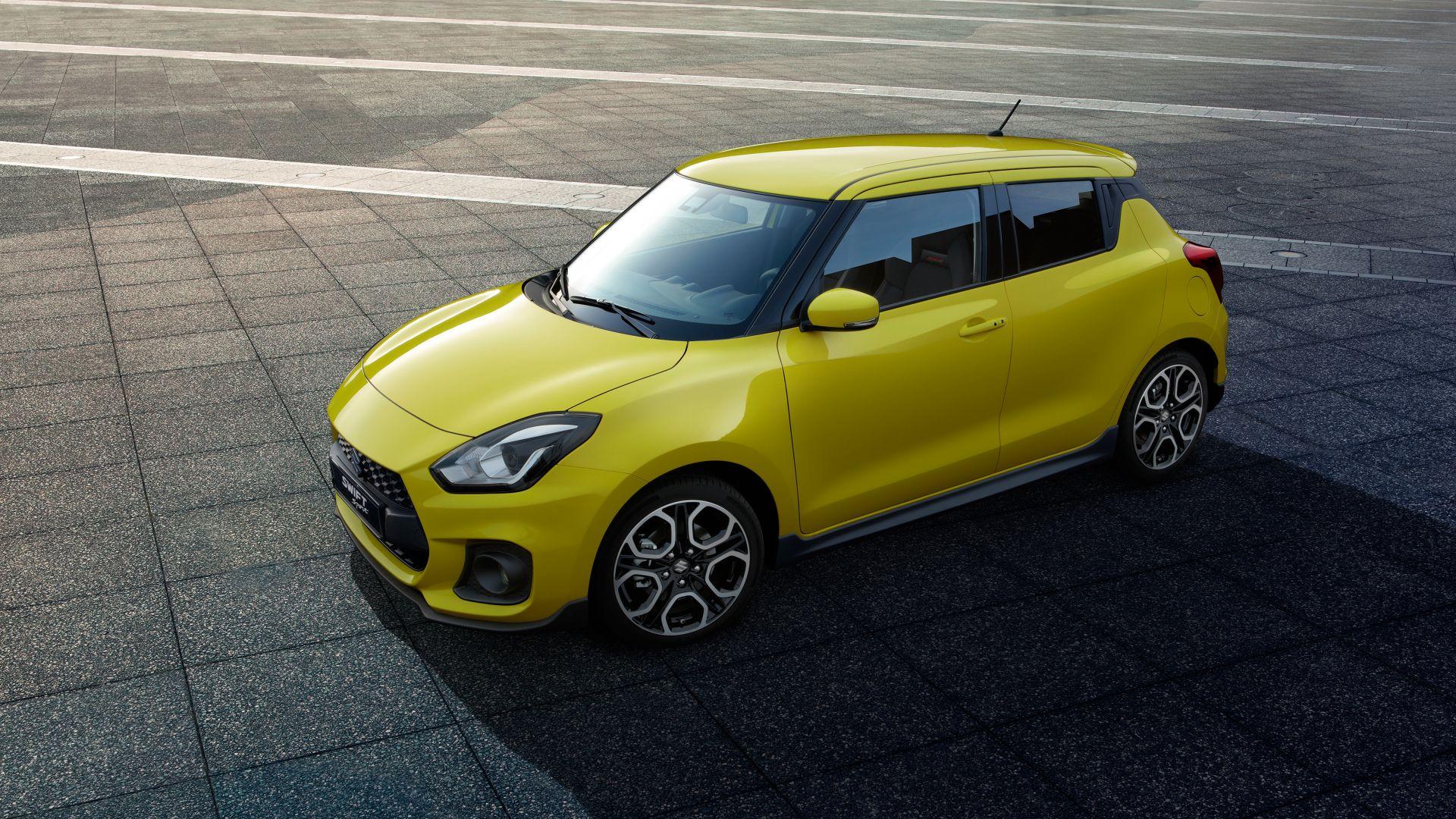 Wallpaper 2018, yellow suzuki swift, sports car, 4k