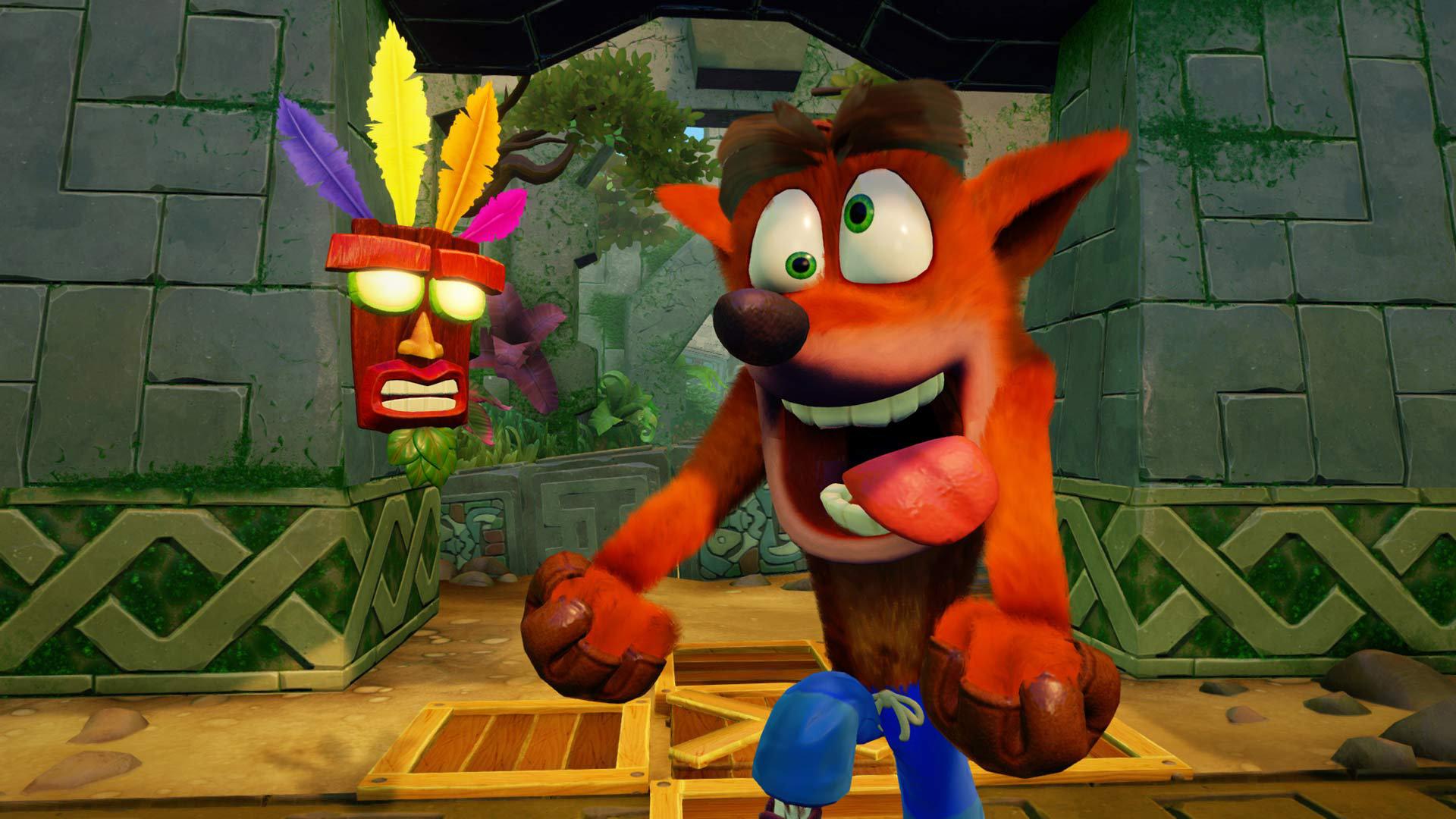 Wallpaper Crash Bandicoot N. Sane Trilogy, video game, 2017 game, fox