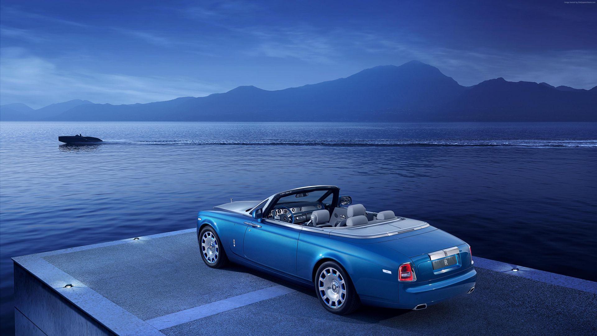 Wallpaper Rolls-Royce Phantom drophead coupe luxury car