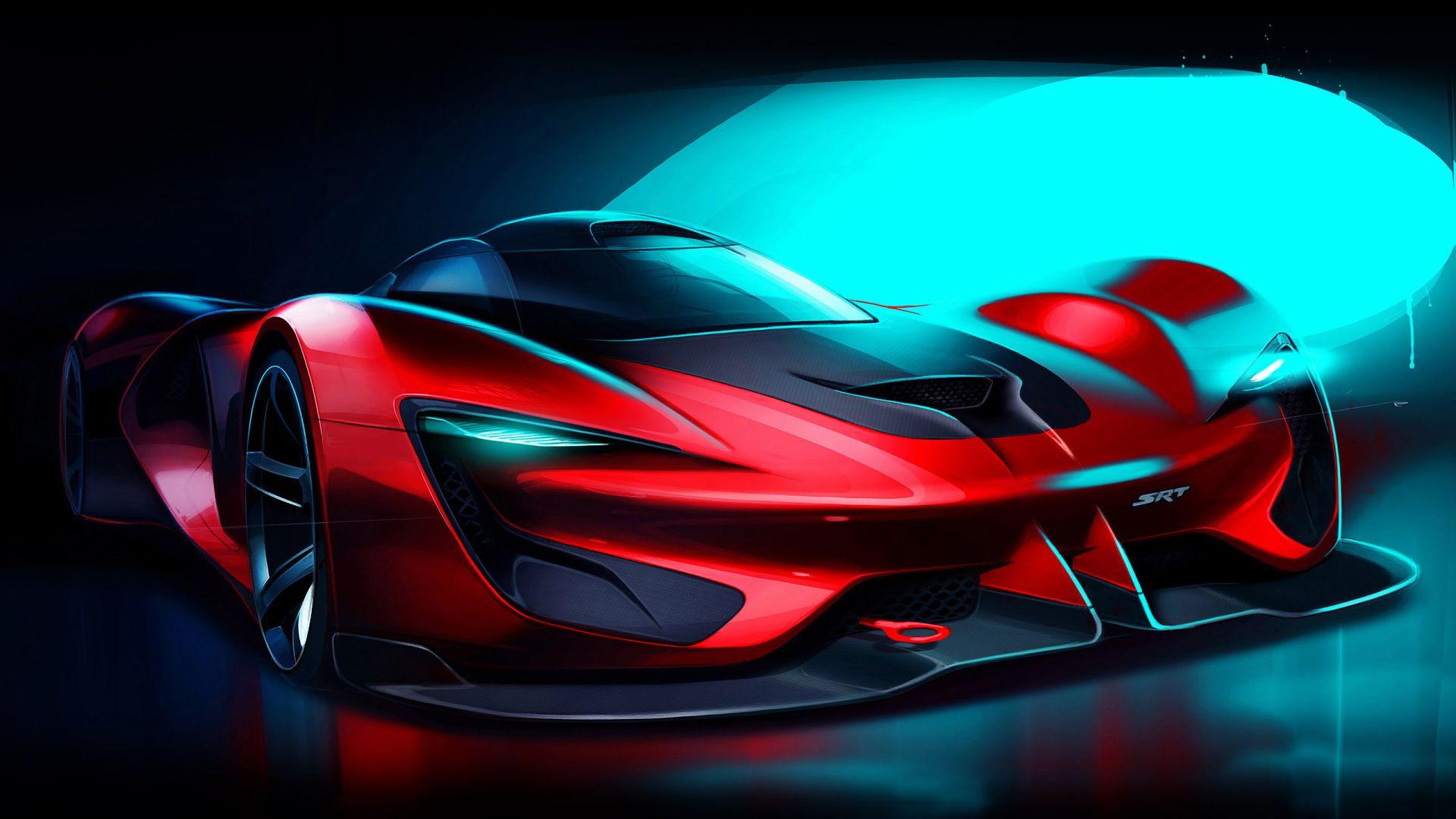 Desktop Wallpaper Dodge Srt Tomahawk Sports Car Artwork Hd Image