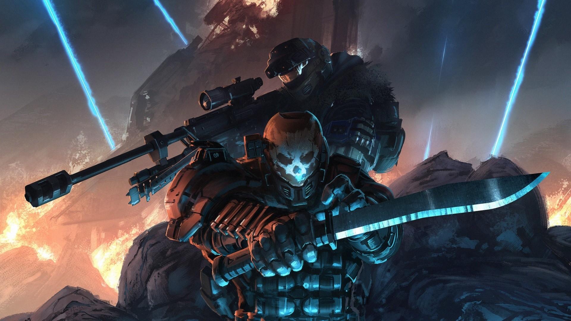 Halo Video Game Dark Soldier Wallpaper
