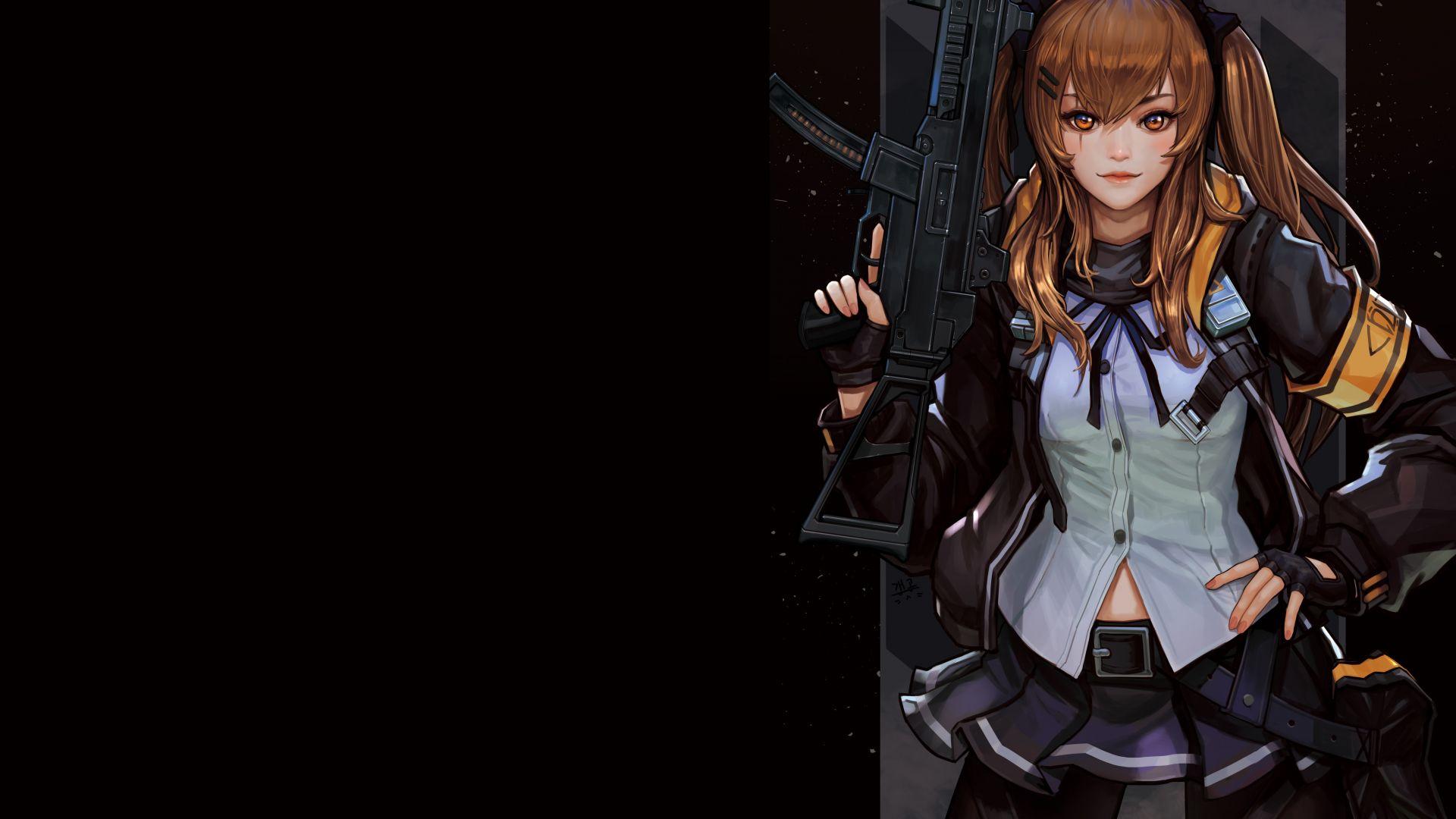 Desktop Wallpaper Anime Girl And Gun Girls Frontline 4k Hd Image