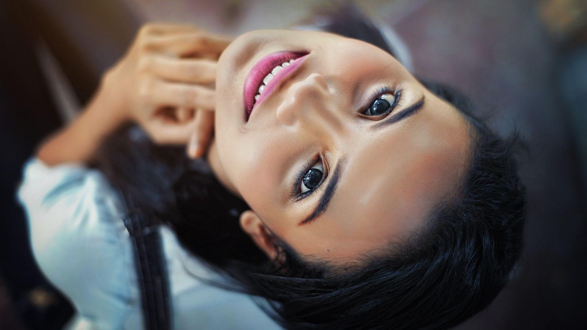 Wallpaper Face, girl, close up, 4k
