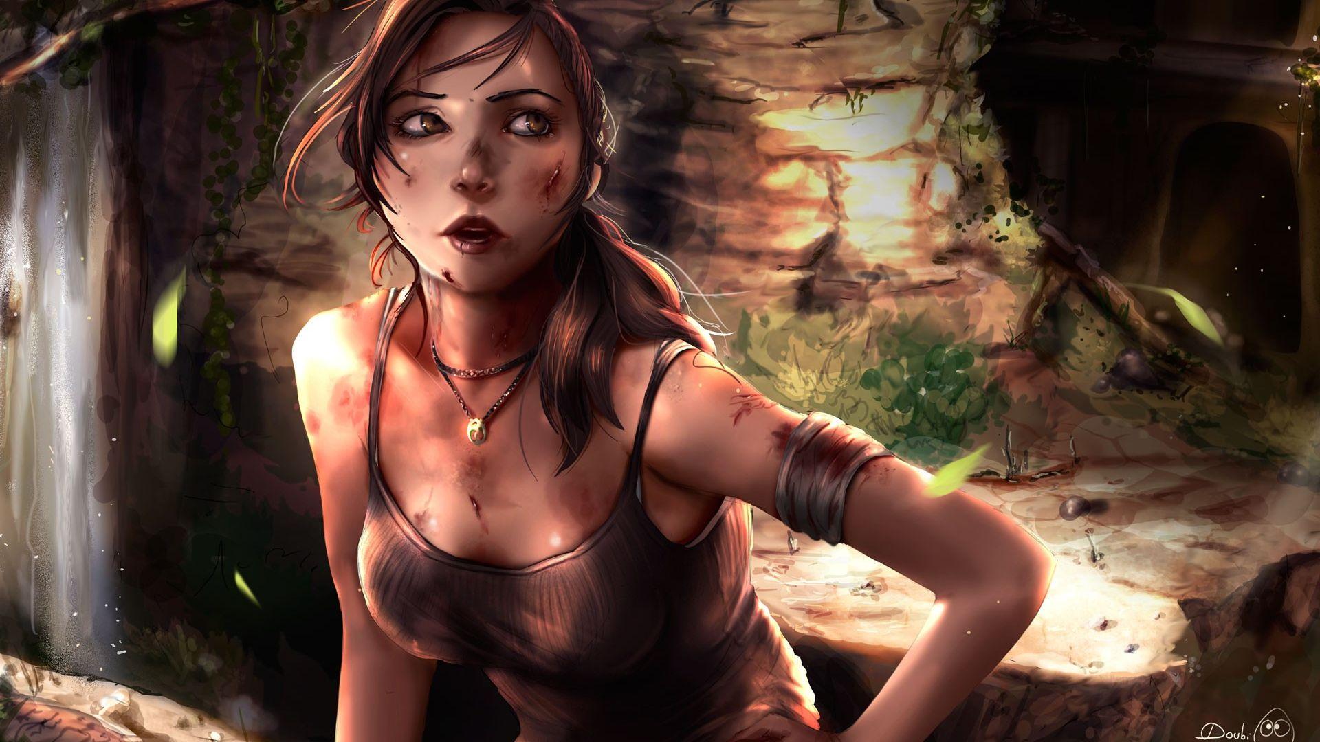 Lara Croft art wallpaper