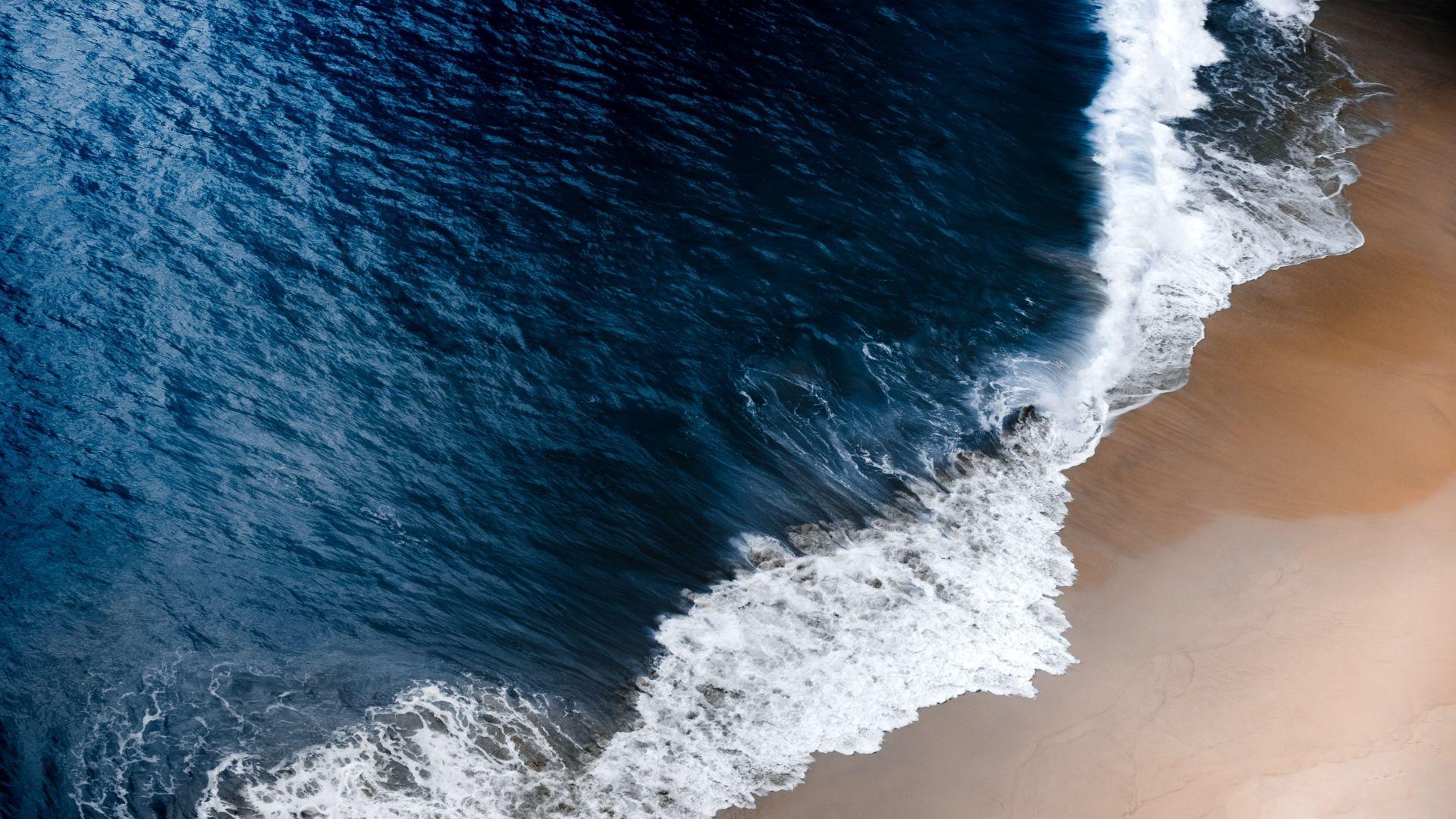 Wallpaper Bali's beach, sea waves, 4k