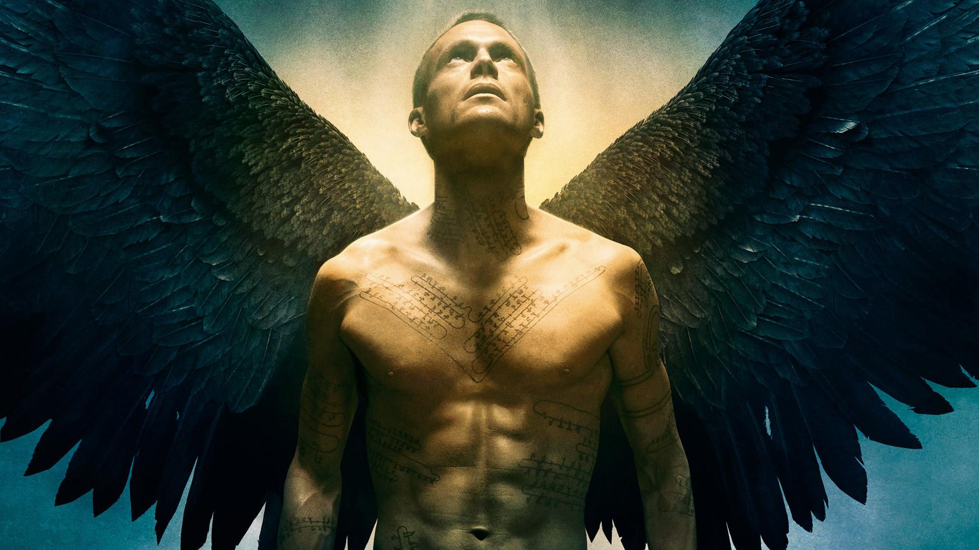 Wallpaper Legion, 2010 movie, Paul Bettany, angle, wings, tattoo