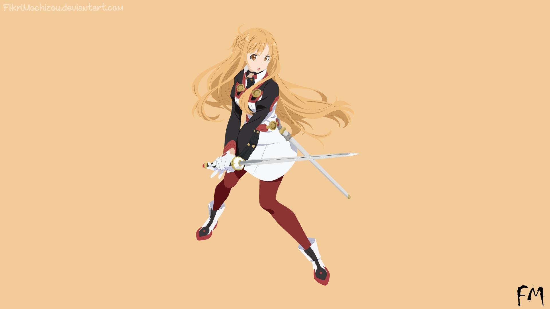 Desktop Wallpaper Sao Sword Art Online Asuna Anime Girl Hd Image Picture Background Fowf9s
