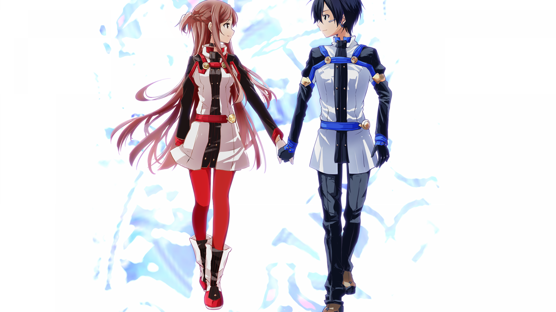 Wallpaper Anime couple, SAO, Sword Art online