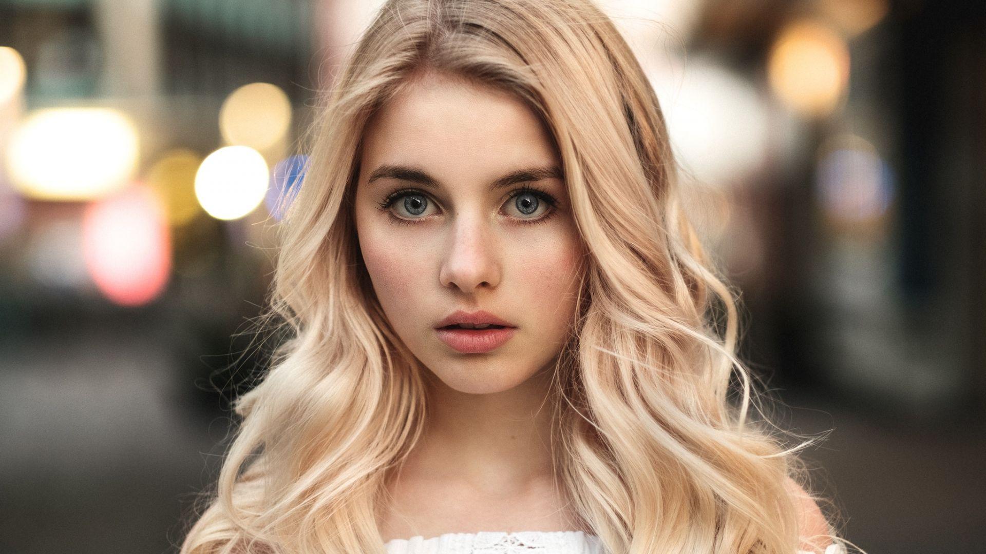 Wallpaper Cute Face, blonde, model
