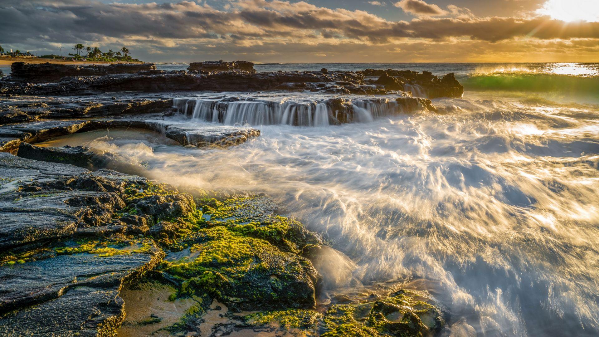 Wallpaper Rocky shore, sea, nature