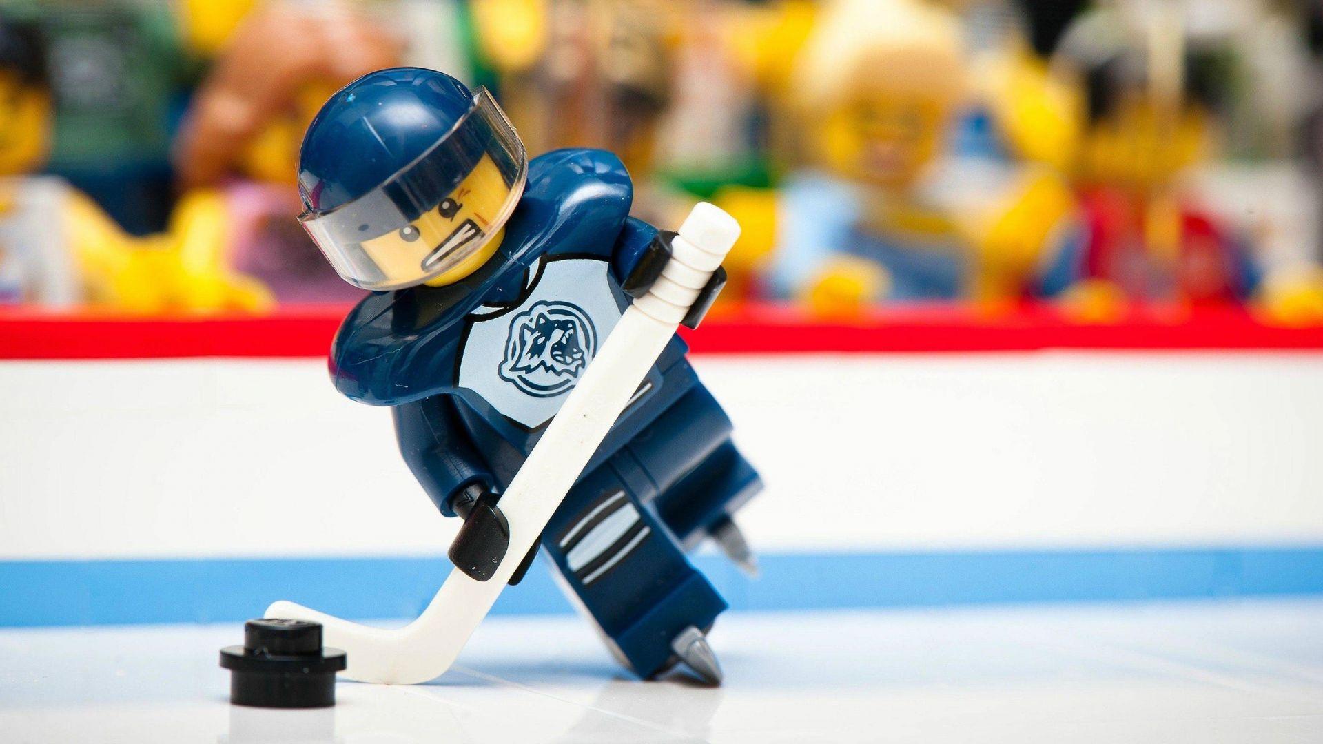 Wallpaper Lego toys of hockey player