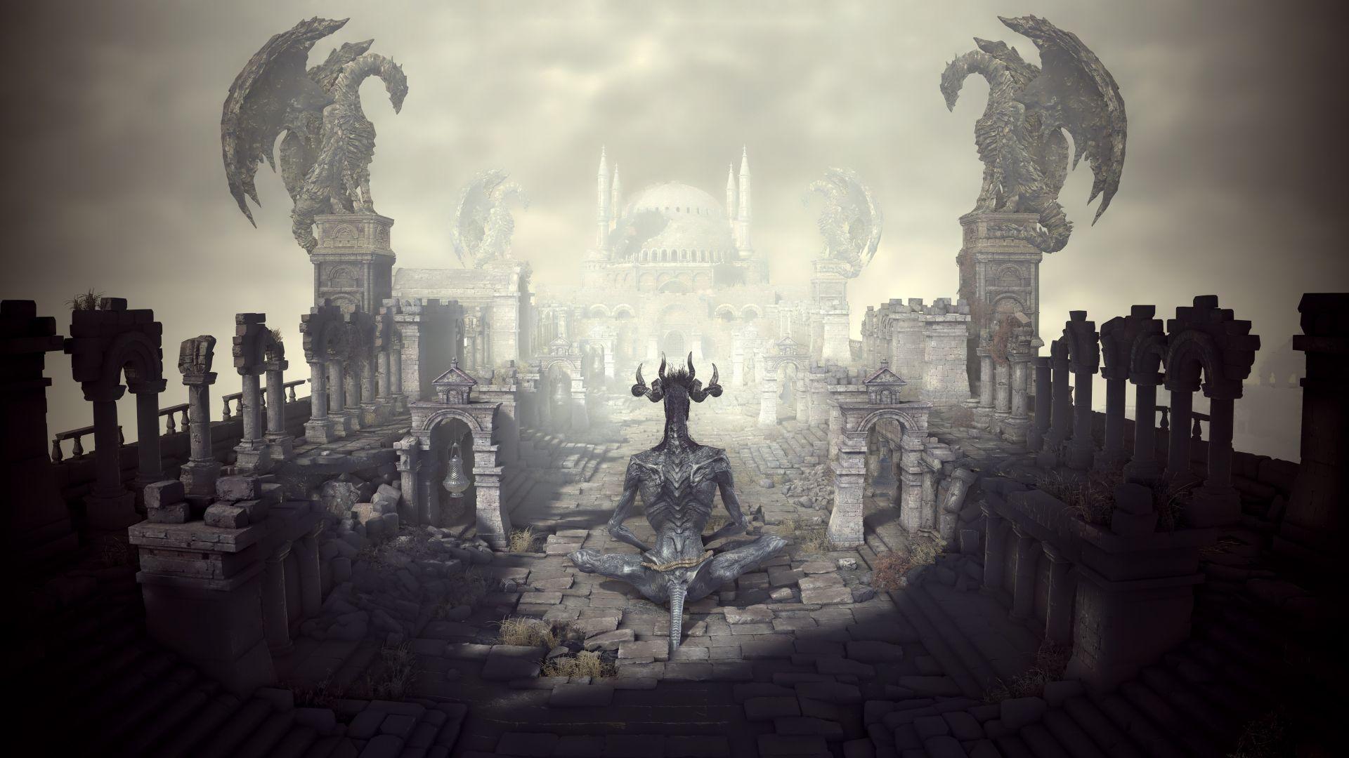 Wallpaper Dark souls 3 demon game