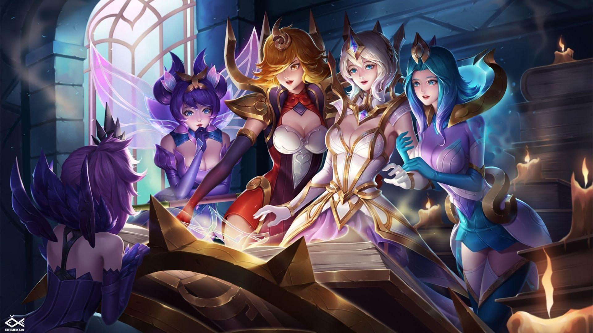 Wallpaper League of legends online game, girls