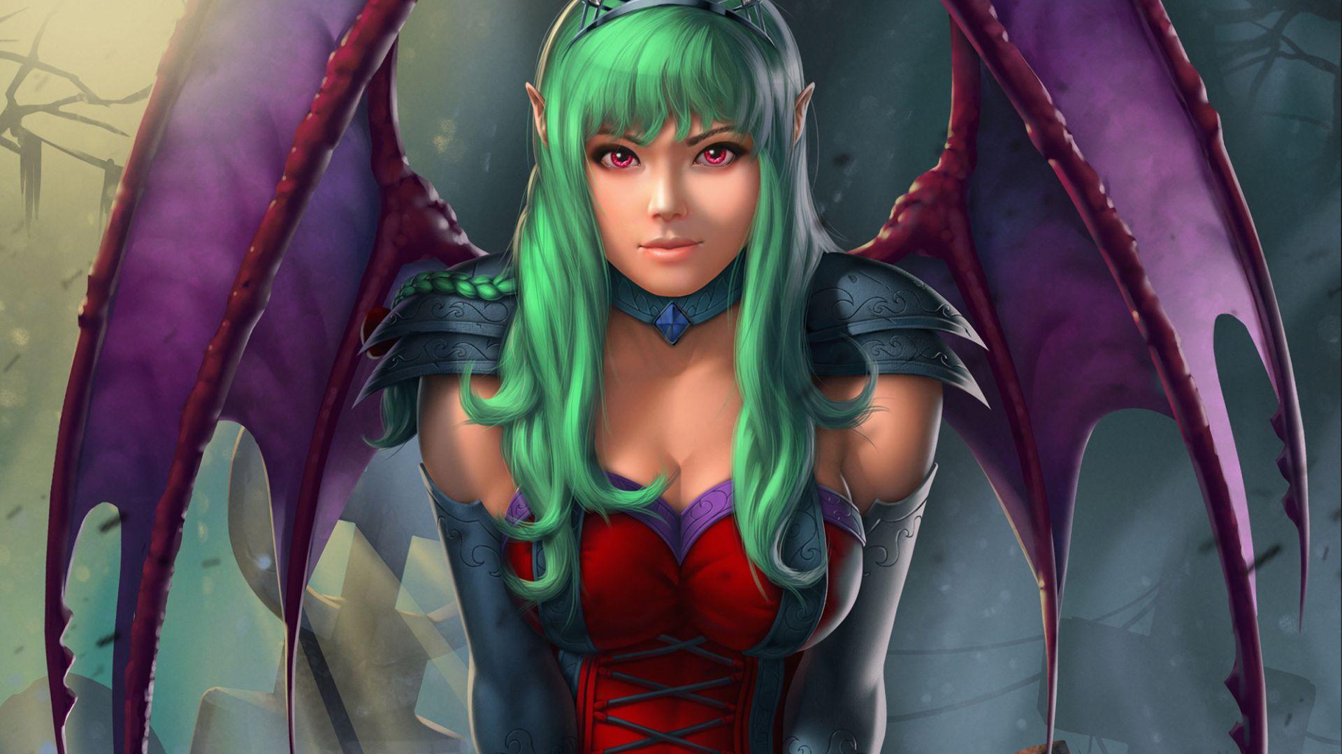 Desktop wallpaper fantasy dragon girl hd image picture background hpnjlf - Hot demon women ...