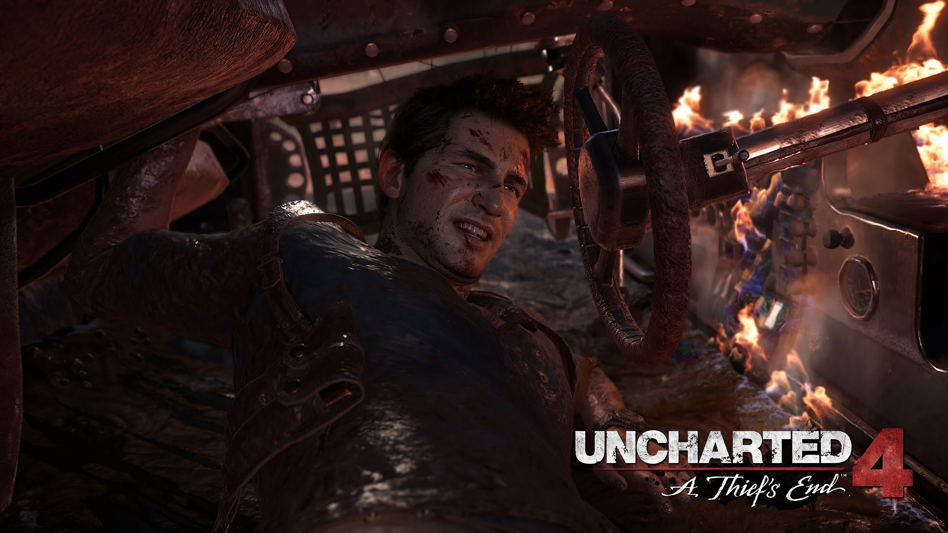 Wallpaper Uncharted 4: A Thief's End Video game, fight