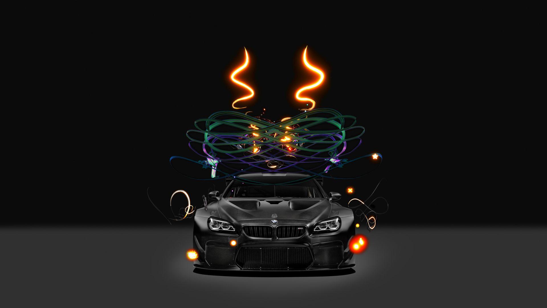 Wallpaper BMW M6 GT3, BMW art car, 4k