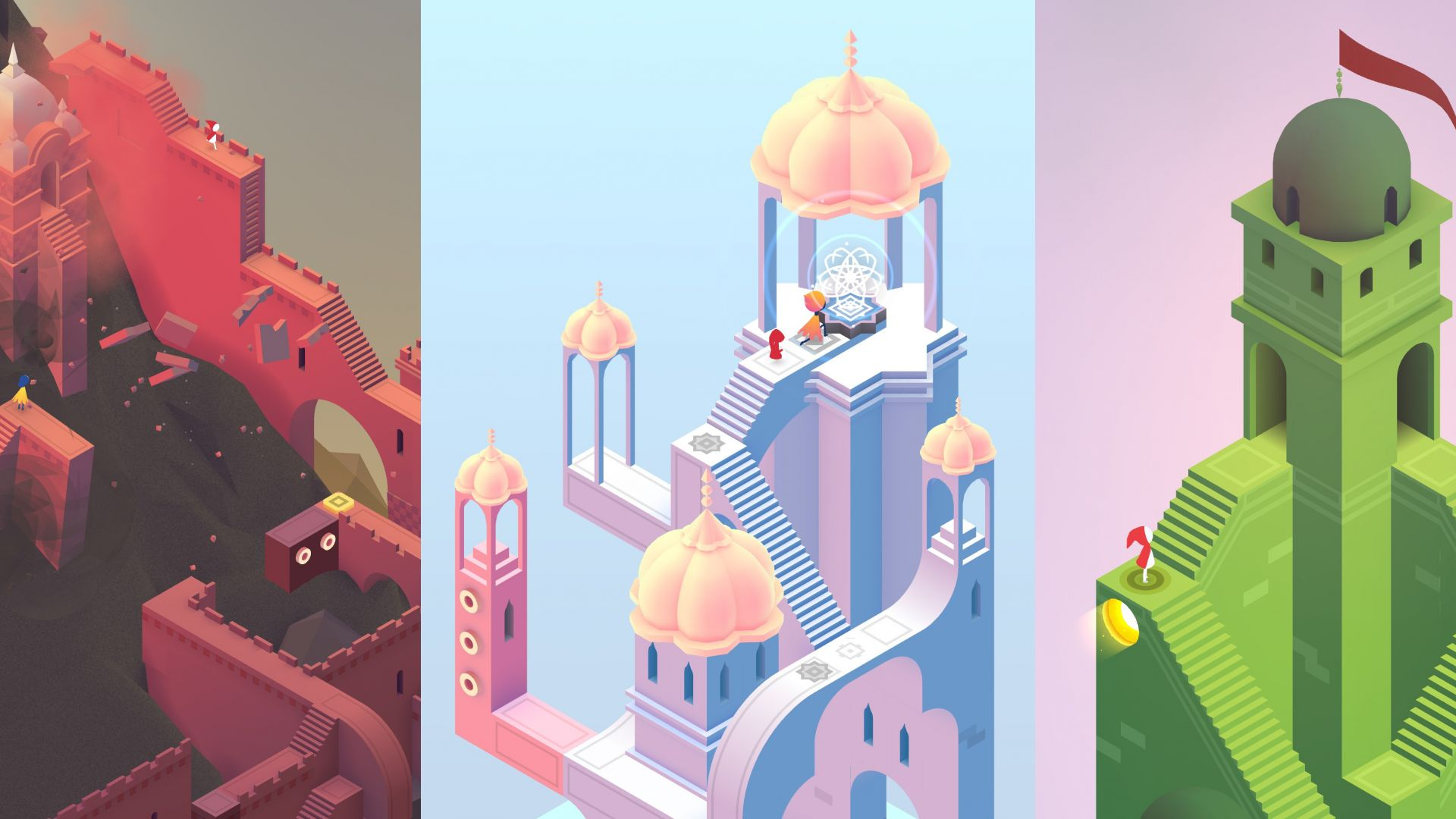 Wallpaper Monument valley 2, video game, castle
