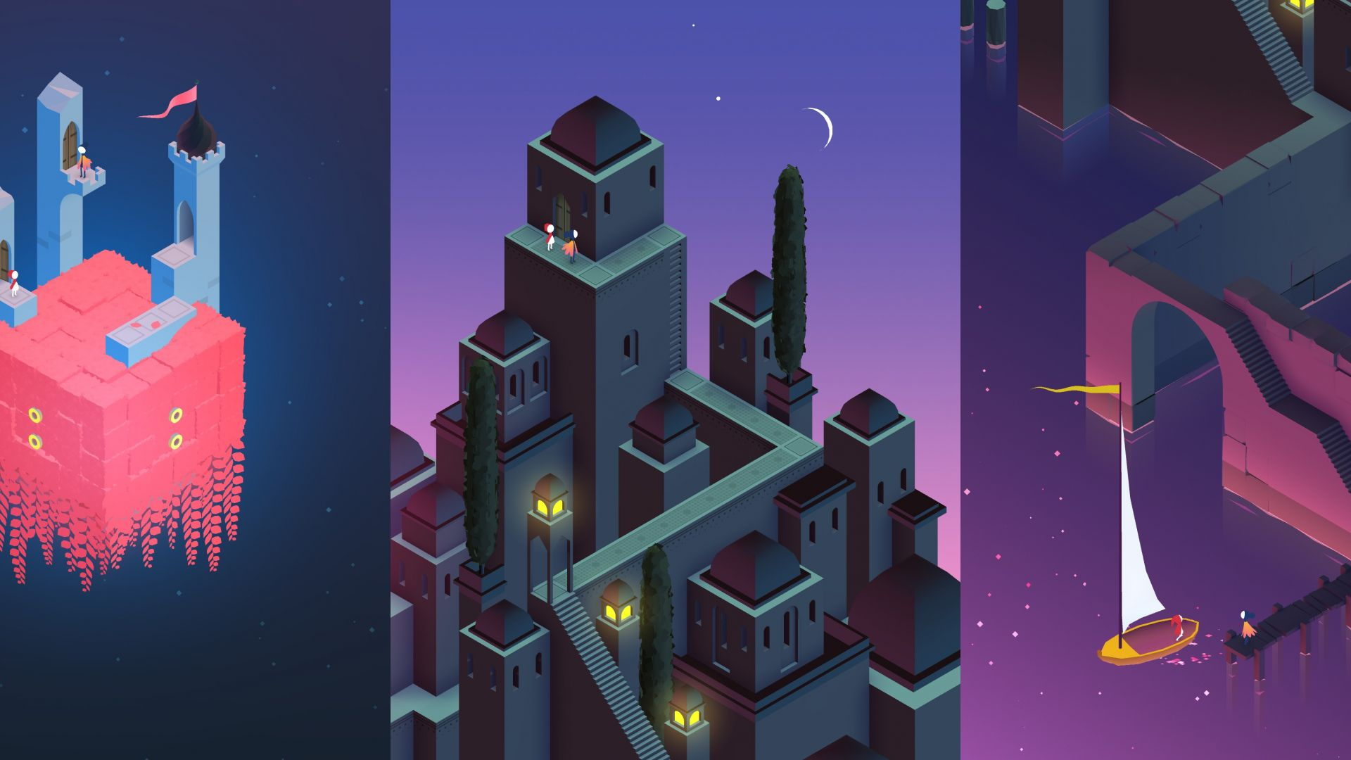 Wallpaper Monument Valley 2, video game, game, 4k