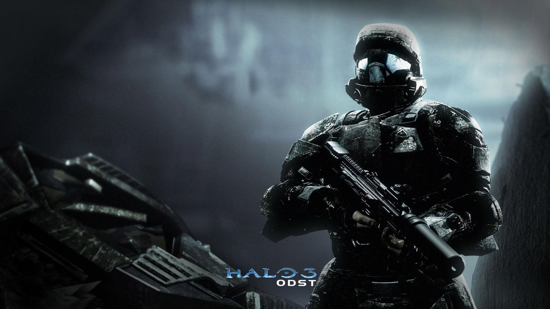 Soldier Dark Halo 3 ODST Video Game Wallpaper