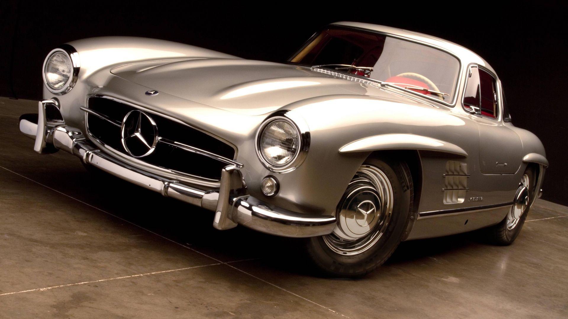 Wallpaper Mercedes-Benz 300 SL, classic car, 4k