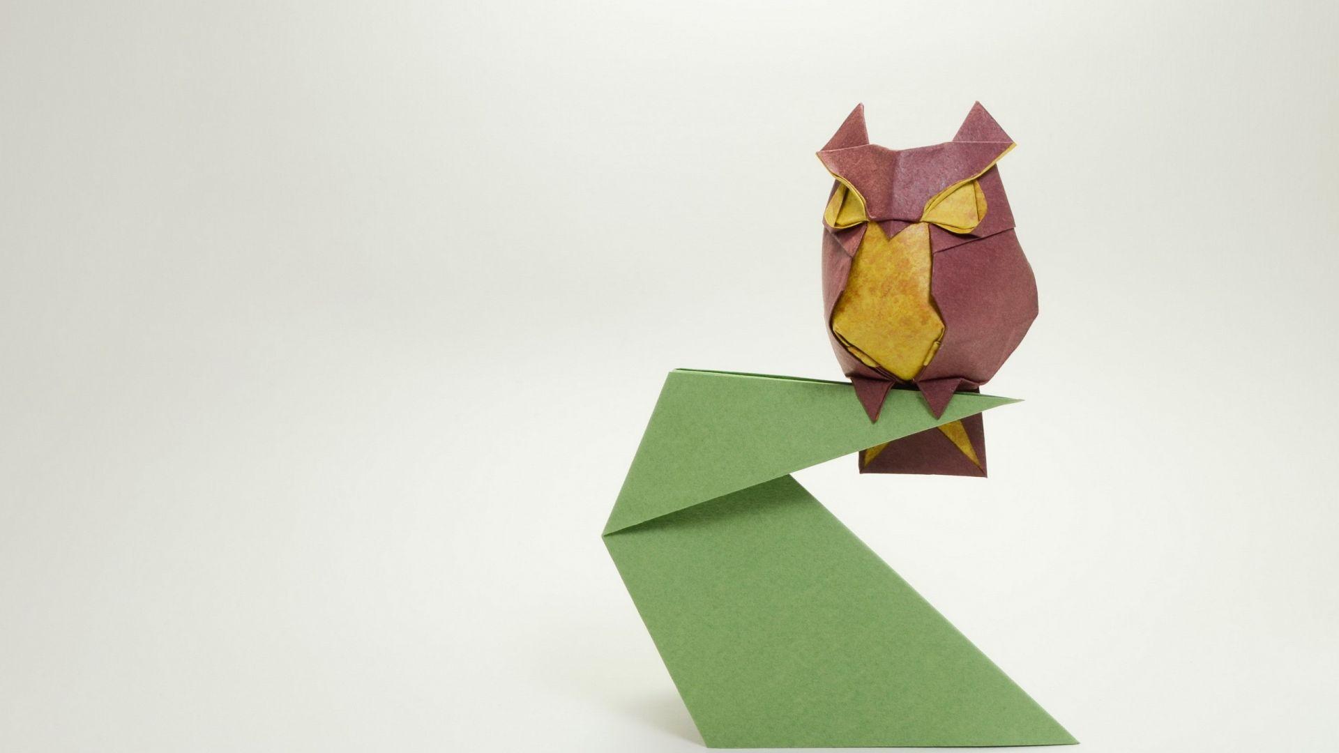Wallpaper Owl of papers artwork