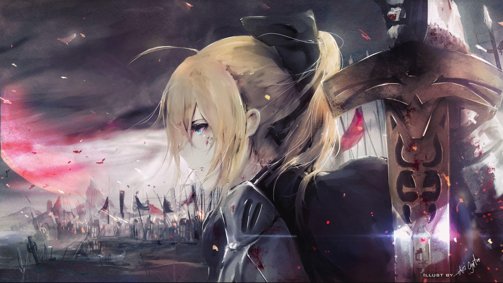 Wallpaper Aoi Ogata, anime girl, anime