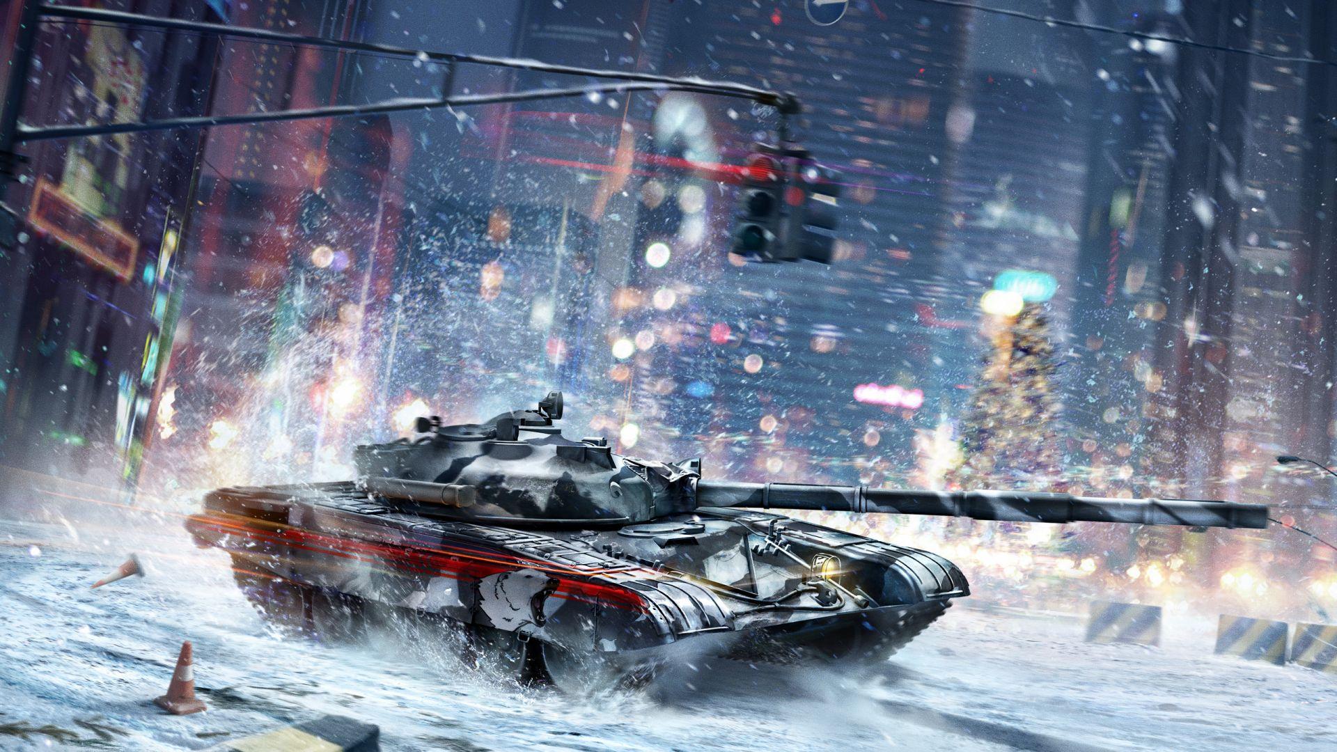 Wallpaper Armored Warfare Online game, winter, tank, battle