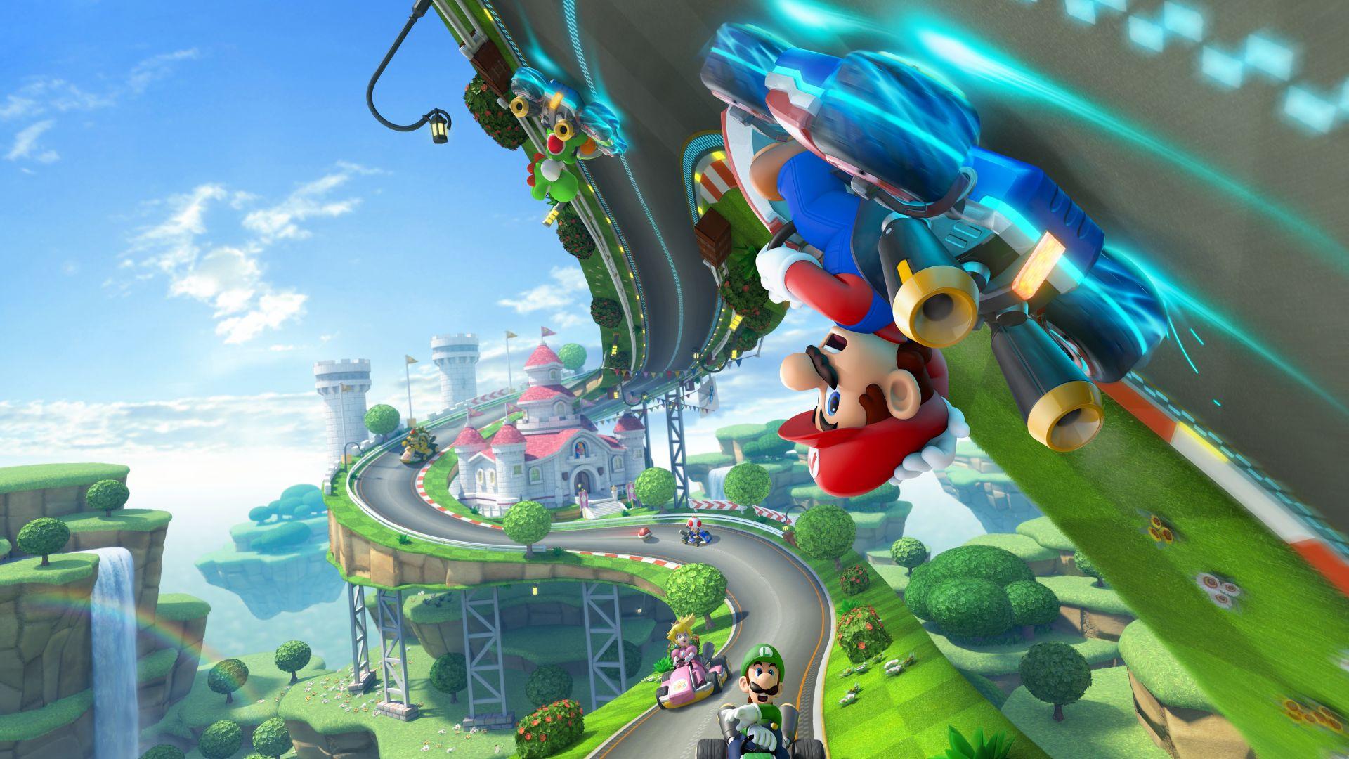 Desktop Wallpaper Mario Kart 8 Video Game Gaming 4k Hd