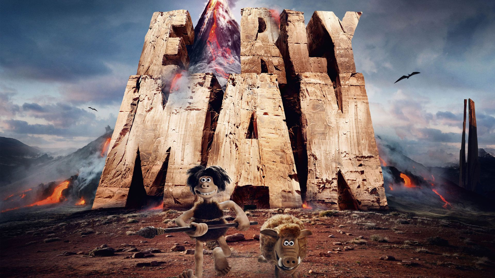 Wallpaper Early man, 2018 animation movie, poster, run